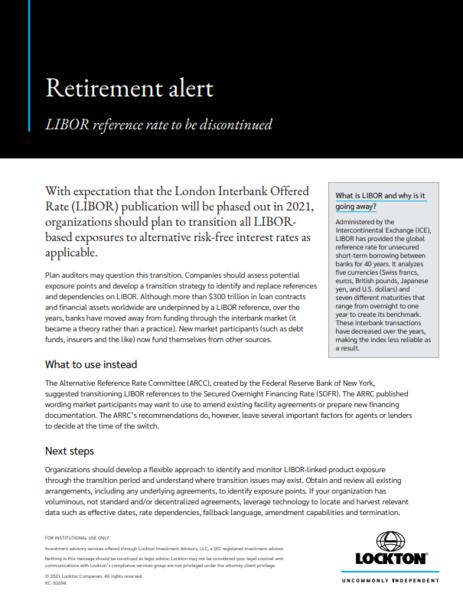 Retirement Alert - LIBOR