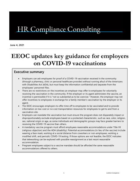 Alert - EEOC updates key