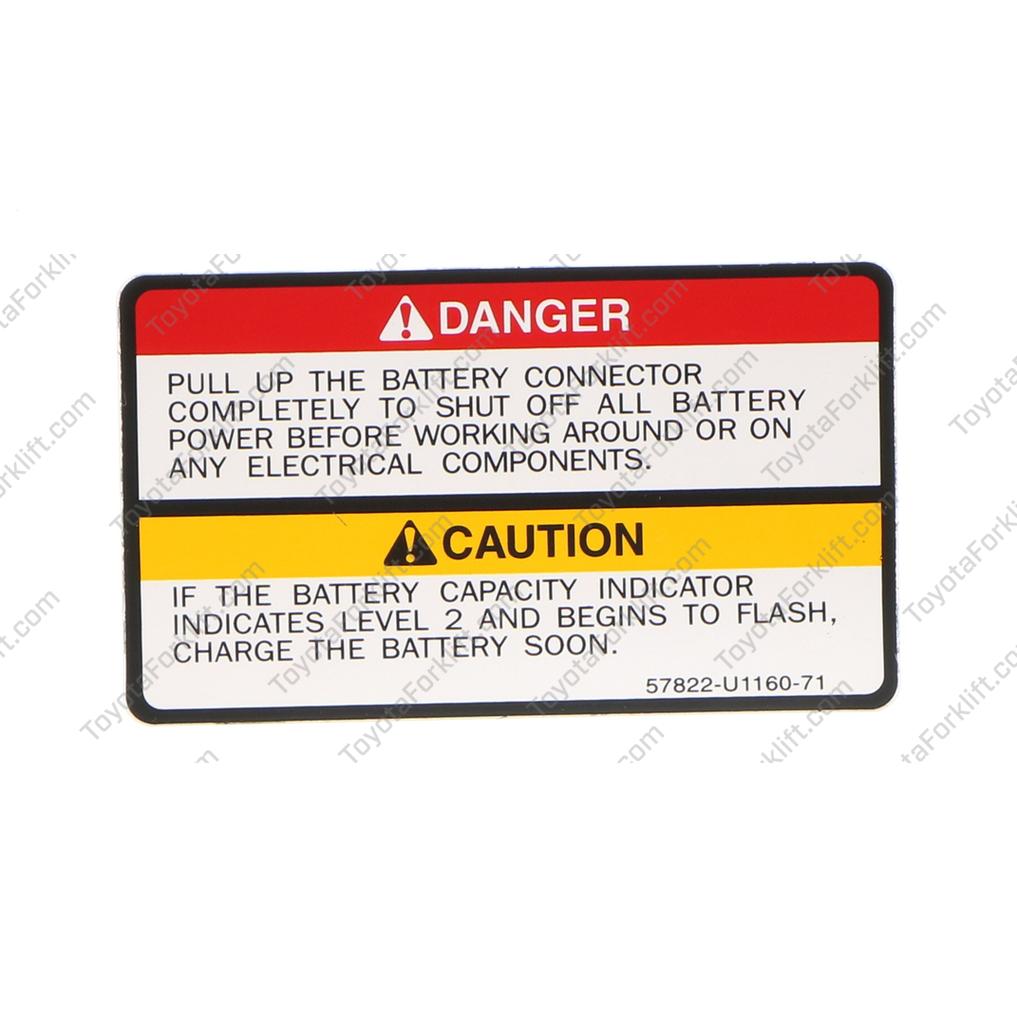 Drive Caution Indicator Plate