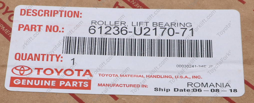 Lift Roller for Outer Mast