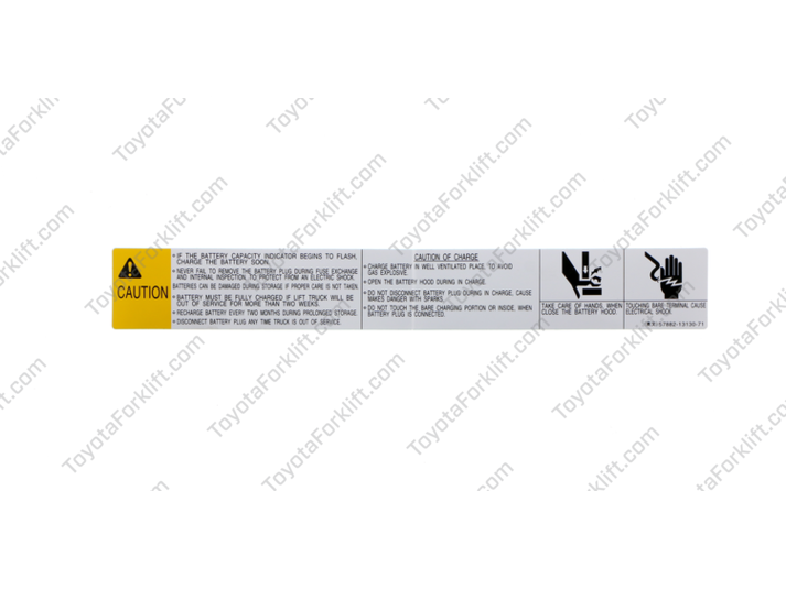 Battery Caution Plate
