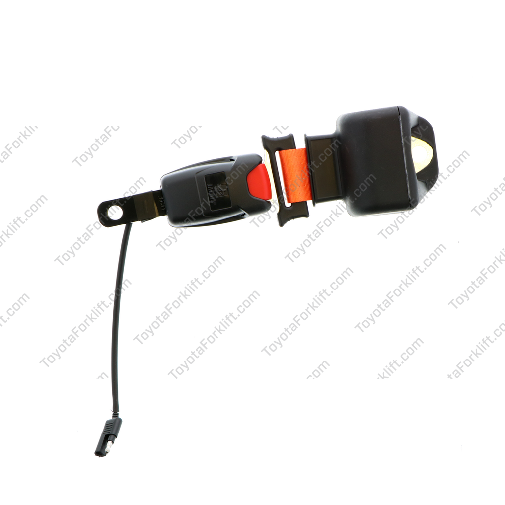 Orange Retractable Interlock Seat Belt Assembly with Switch