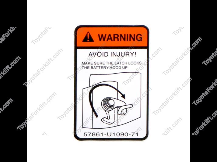 Hood Stay Caution Indicator