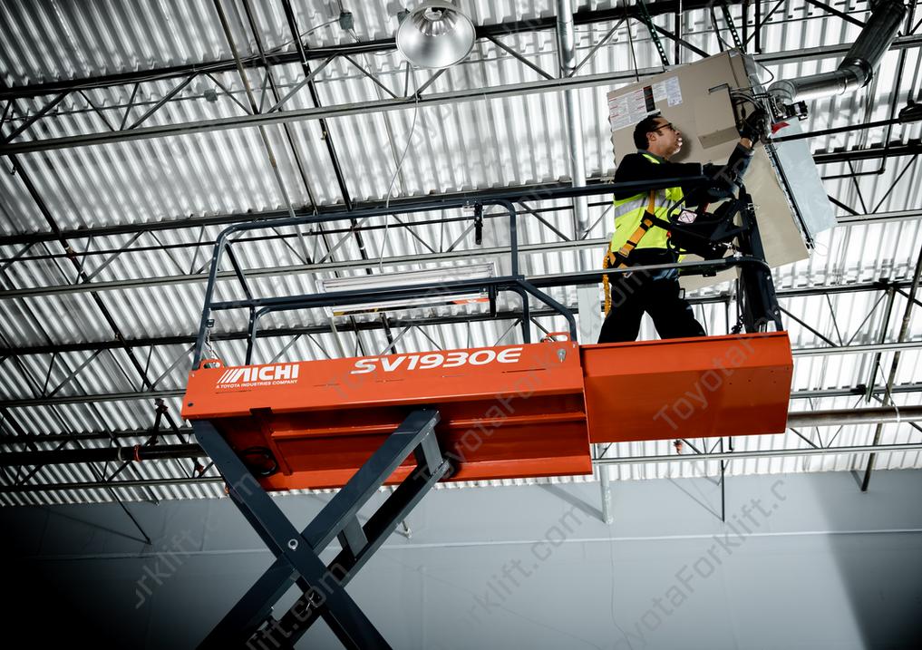 Aichi E-Series Scissor Lift (19FT Platform Height