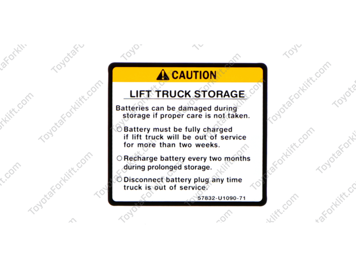 Battery Operating Indicator Caution Plate