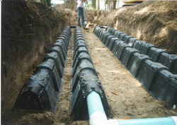 Narrow Biodiffuser Trench Installation