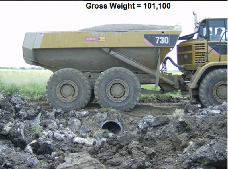 HP Storm Culvert under dump truck