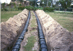 Biodiffuser Parallel Trench install