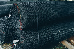 London Plant Three Geogrids Stacked