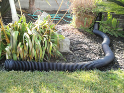 Bend-A-Drain in Residential Landscape