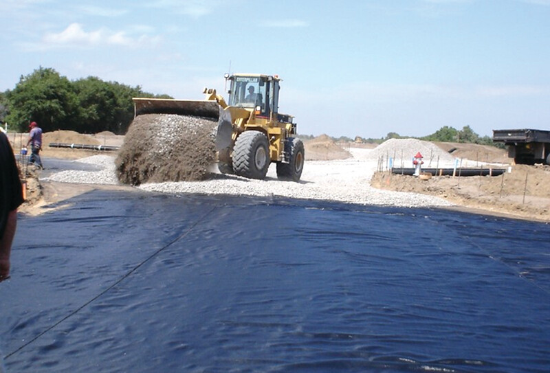 Woven Fabric Road Building