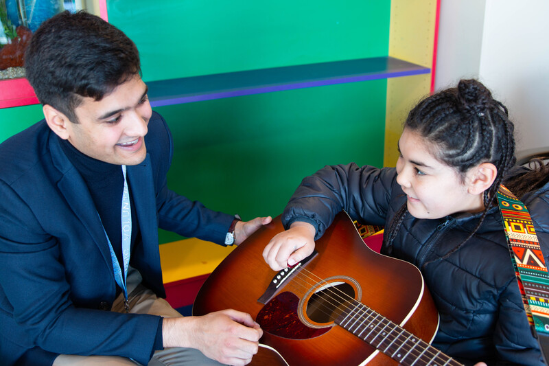 volunteer services music program - pediatrics yawkey lobby