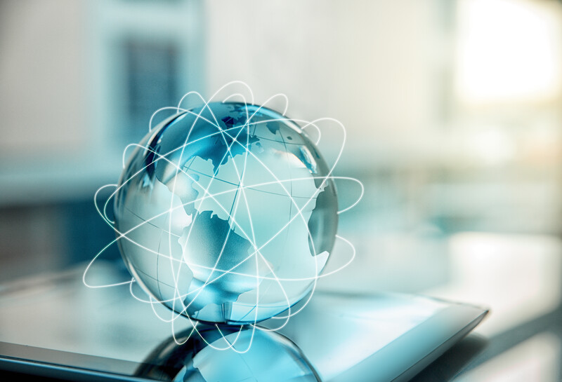 Technology, Internet, Globe, World Map, Data