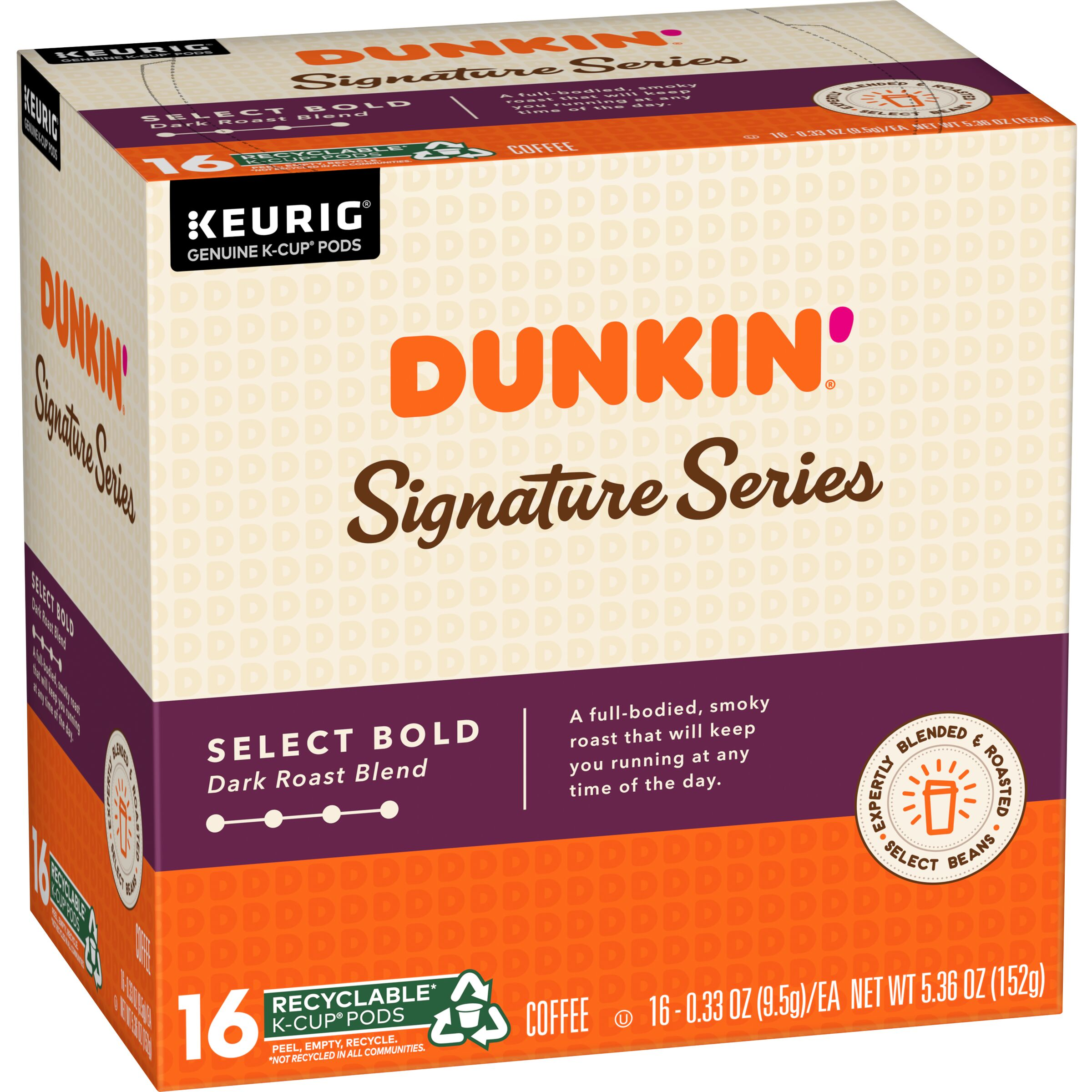 Dunkin' Signature Series Select Bold K-Cup® Pods
