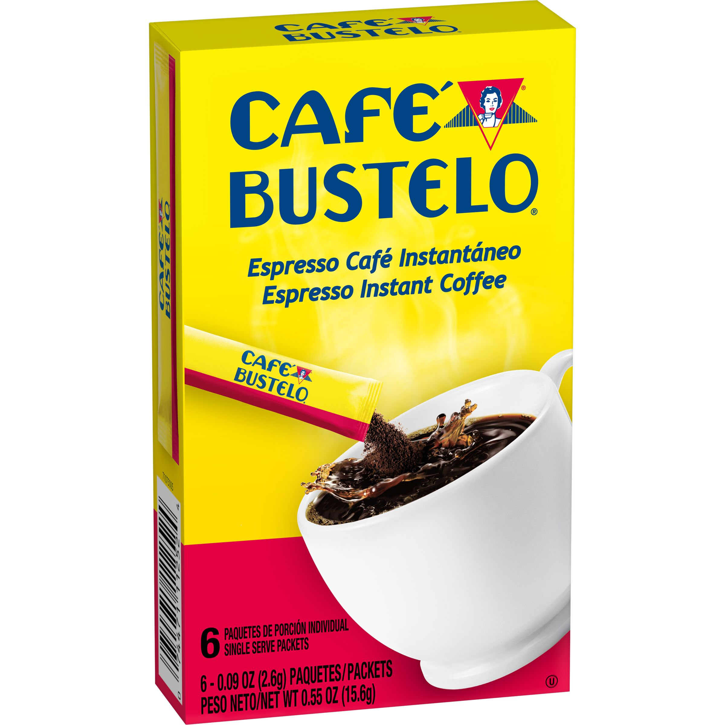 Cafe Bustelo  Espresso Instant Coffee Single Serve Packets, 6 Count