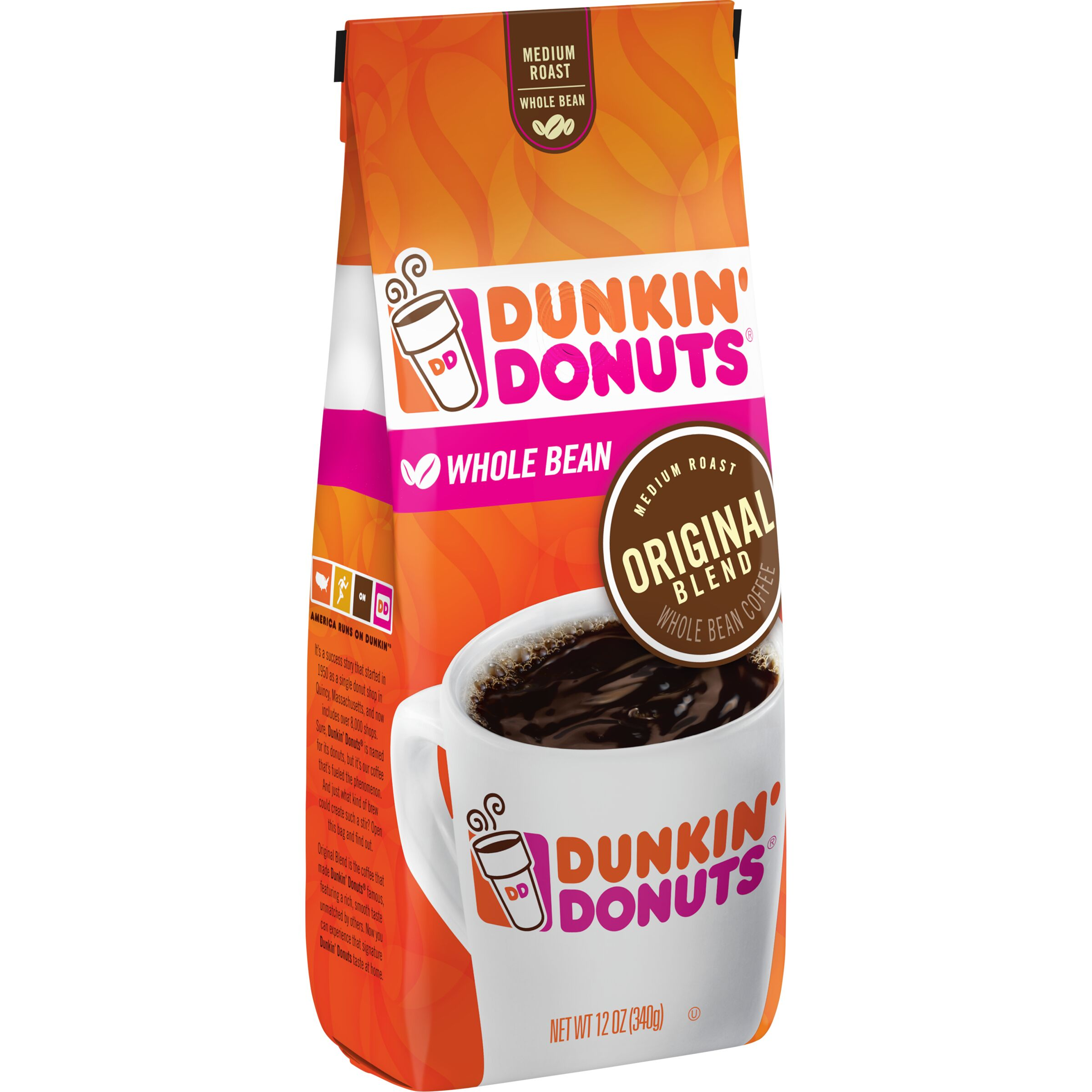 Dunkin' Donuts<sup>®</sup>  Original Blend Whole Bean Coffee