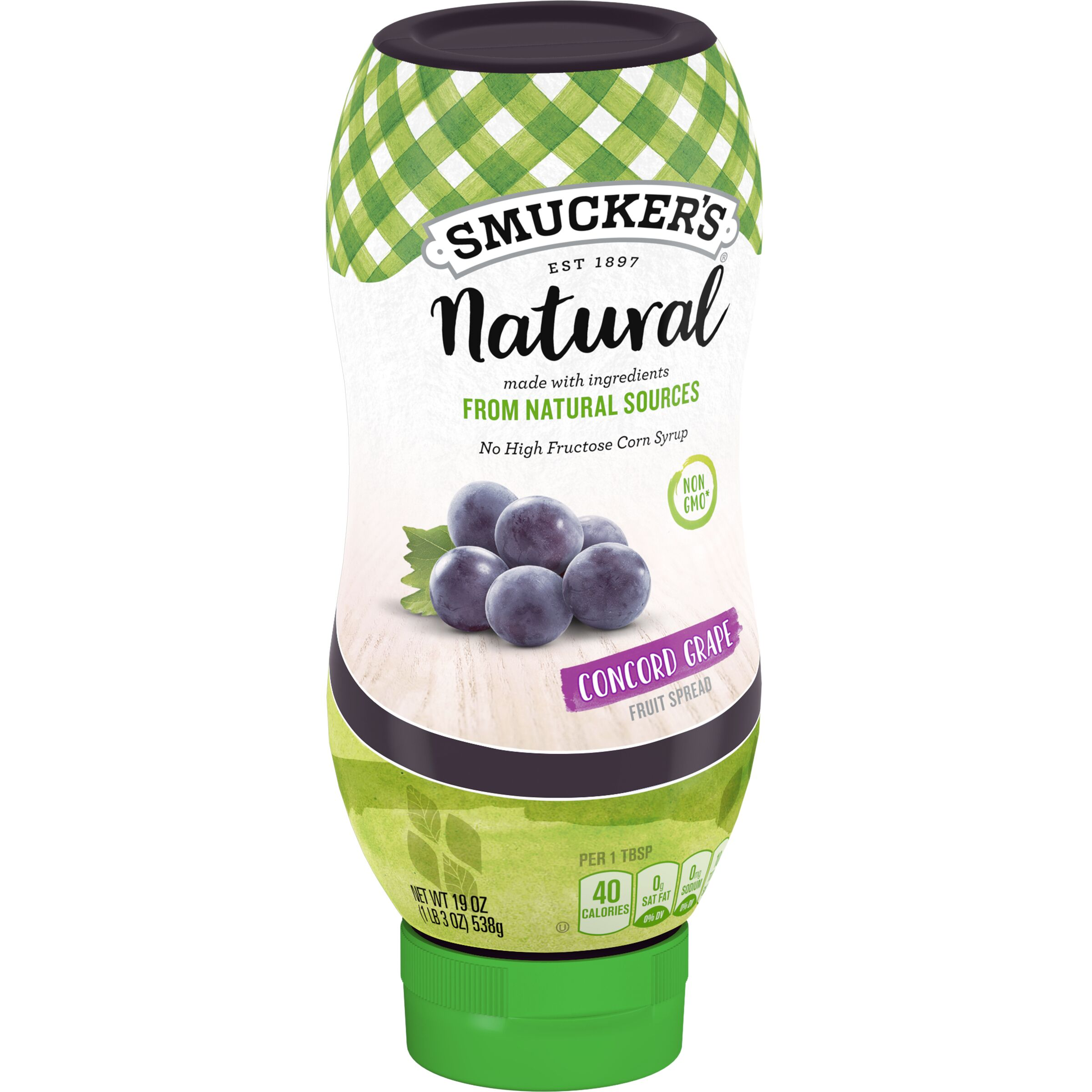 Smucker's Natural Natural Squeeze Concord Grape Fruit Spread