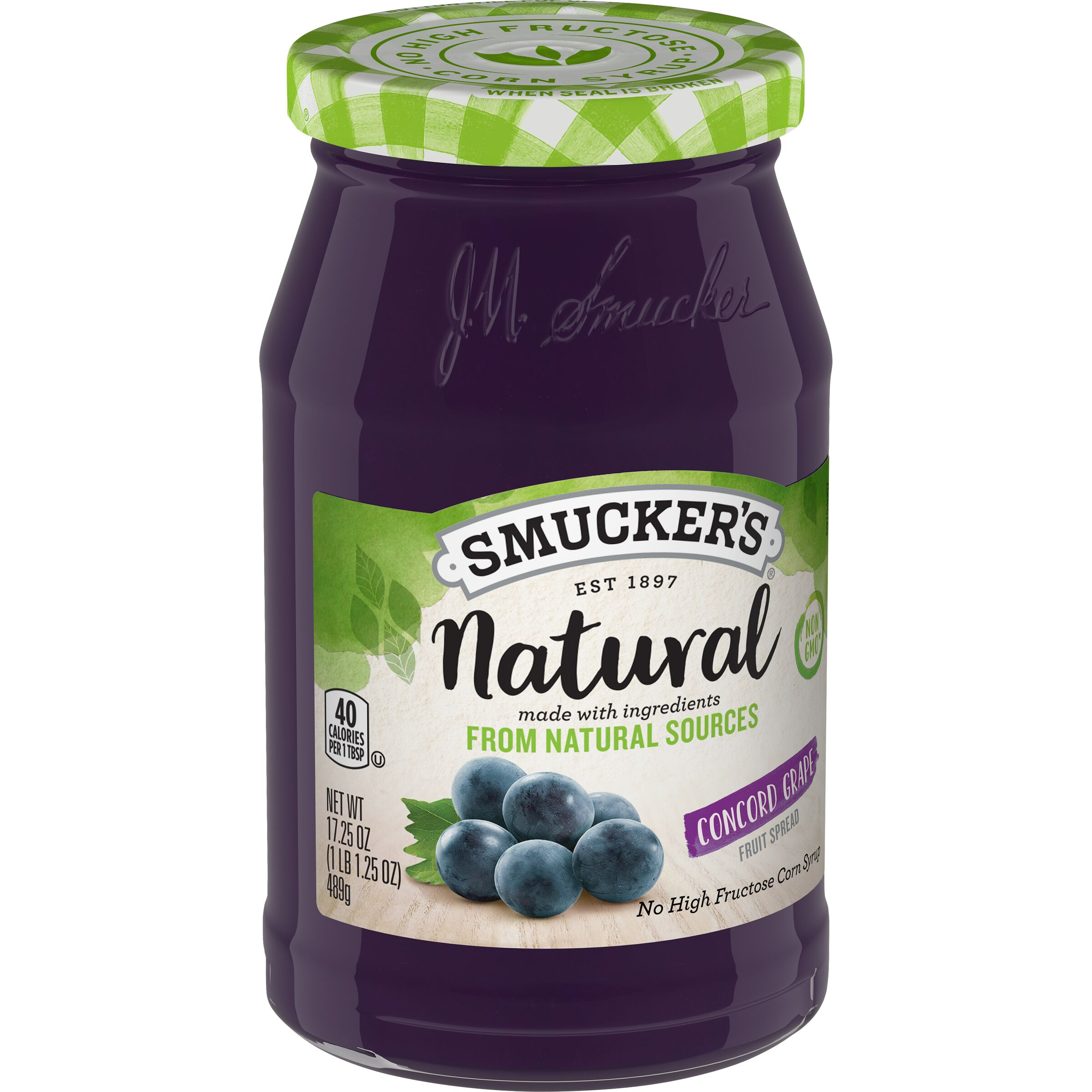 Smucker's<sup>®</sup> Natural Concord Grape Fruit Spread
