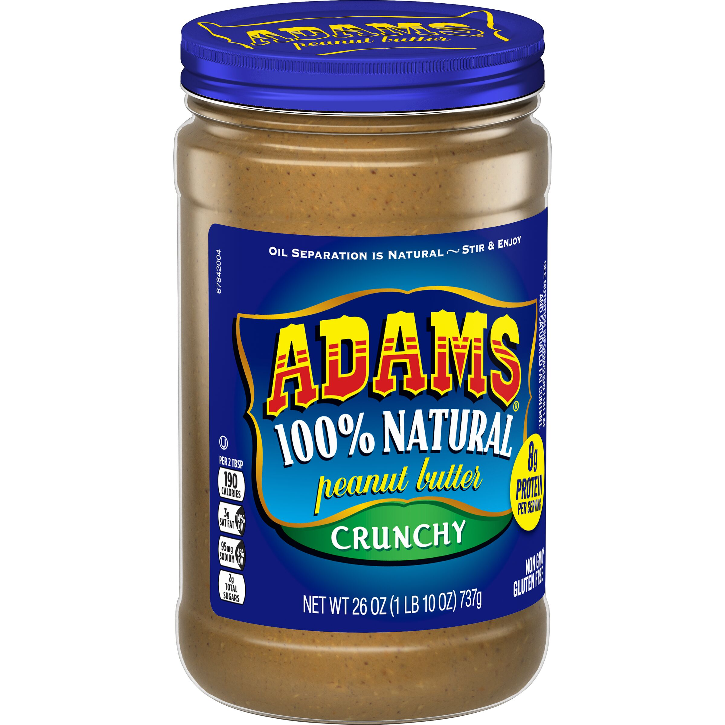 Adams  Natural Crunchy Peanut Butter