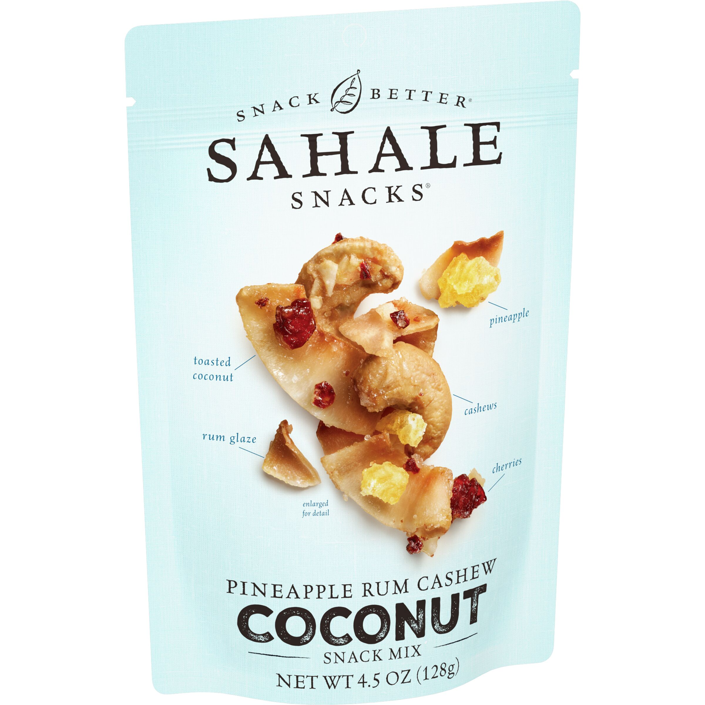 Sahale Snacks<sup>®</sup>  Pineapple Rum Cashew Coconut Snack Mix