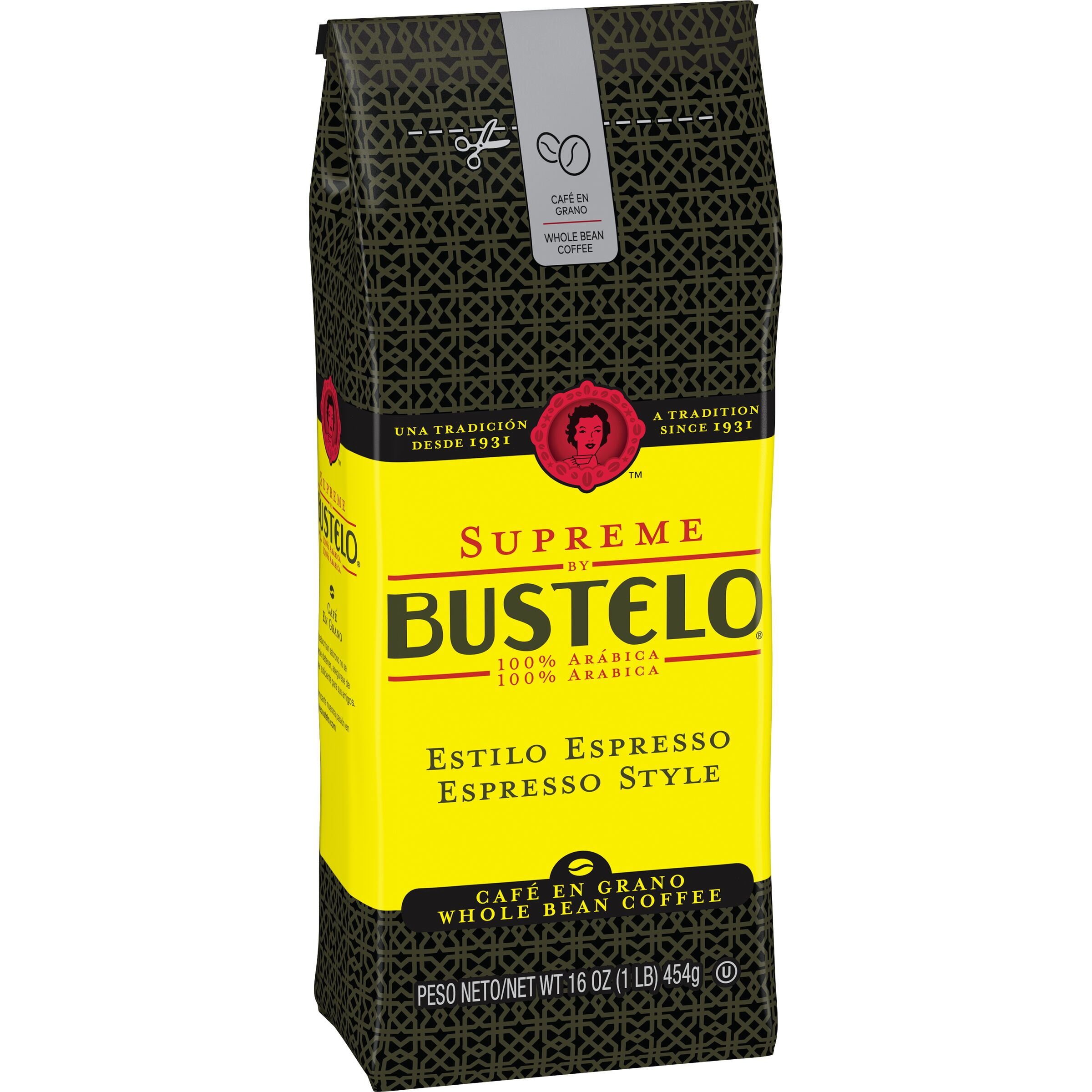 Cafe Bustelo Supreme by Bustelo Espresso Coffee Whole Beans