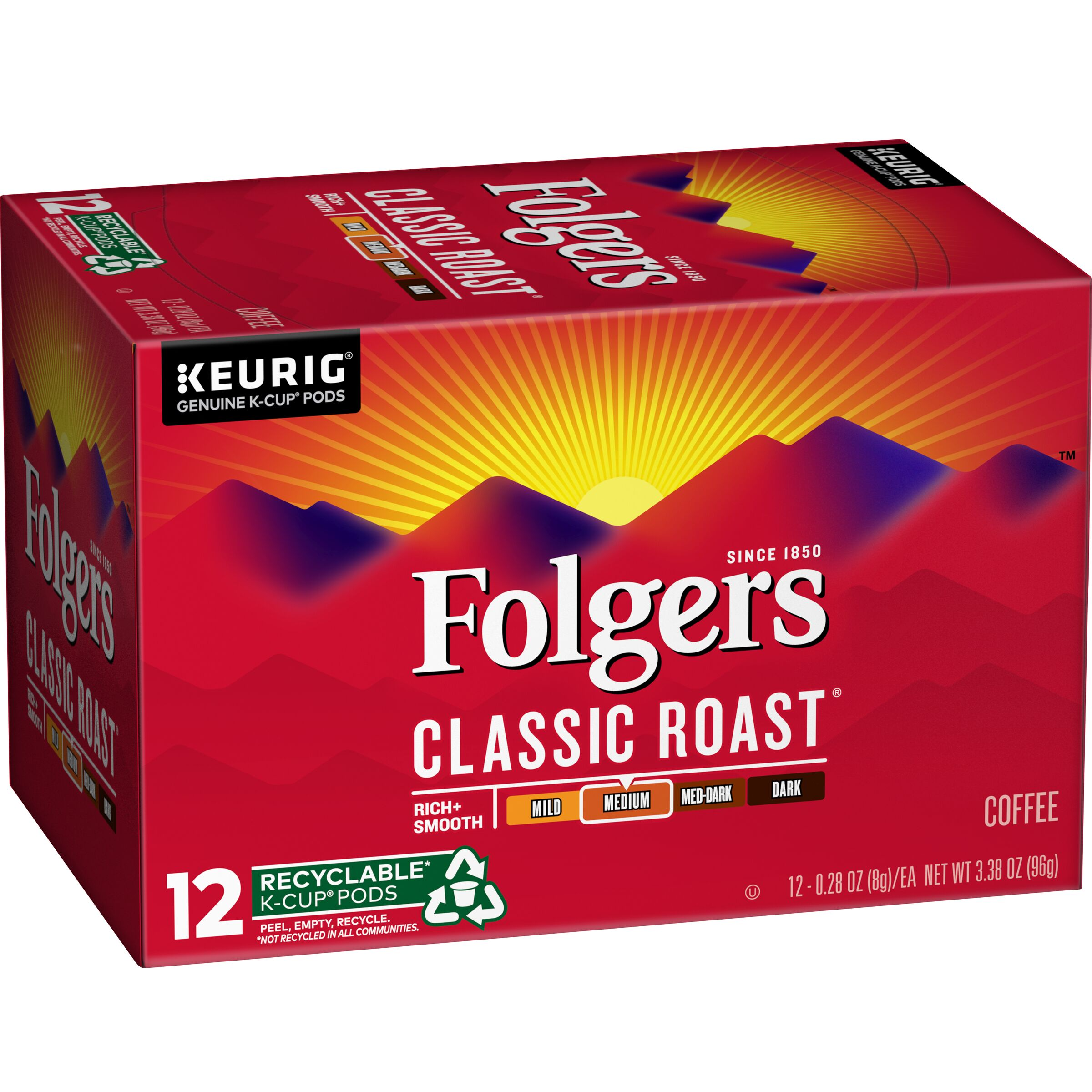 Folgers  Classic Roast® Coffee K-Cup® Pods, 12 Count