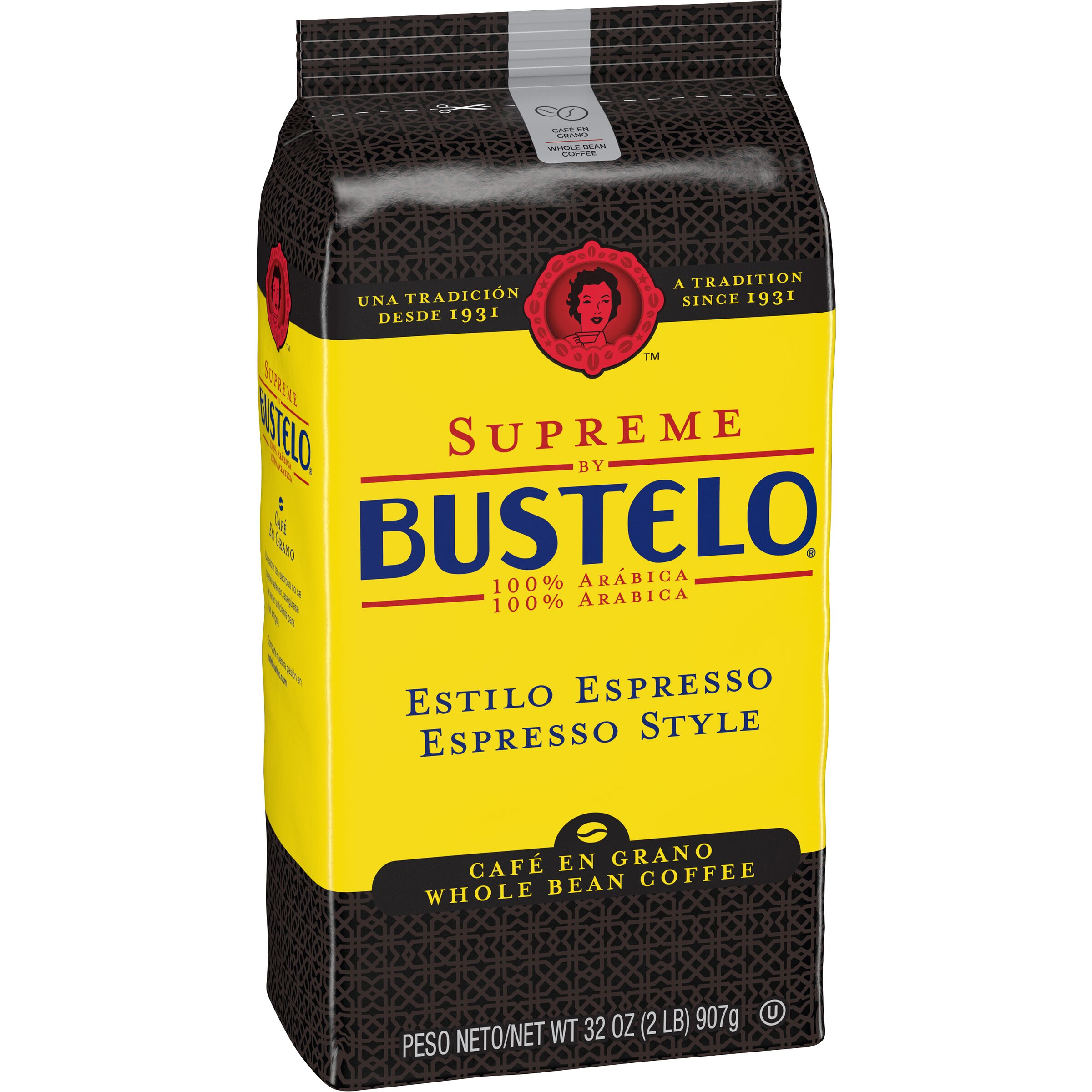 Cafe Bustelo Supreme by Bustelo Espresso Coffee Whole Bean
