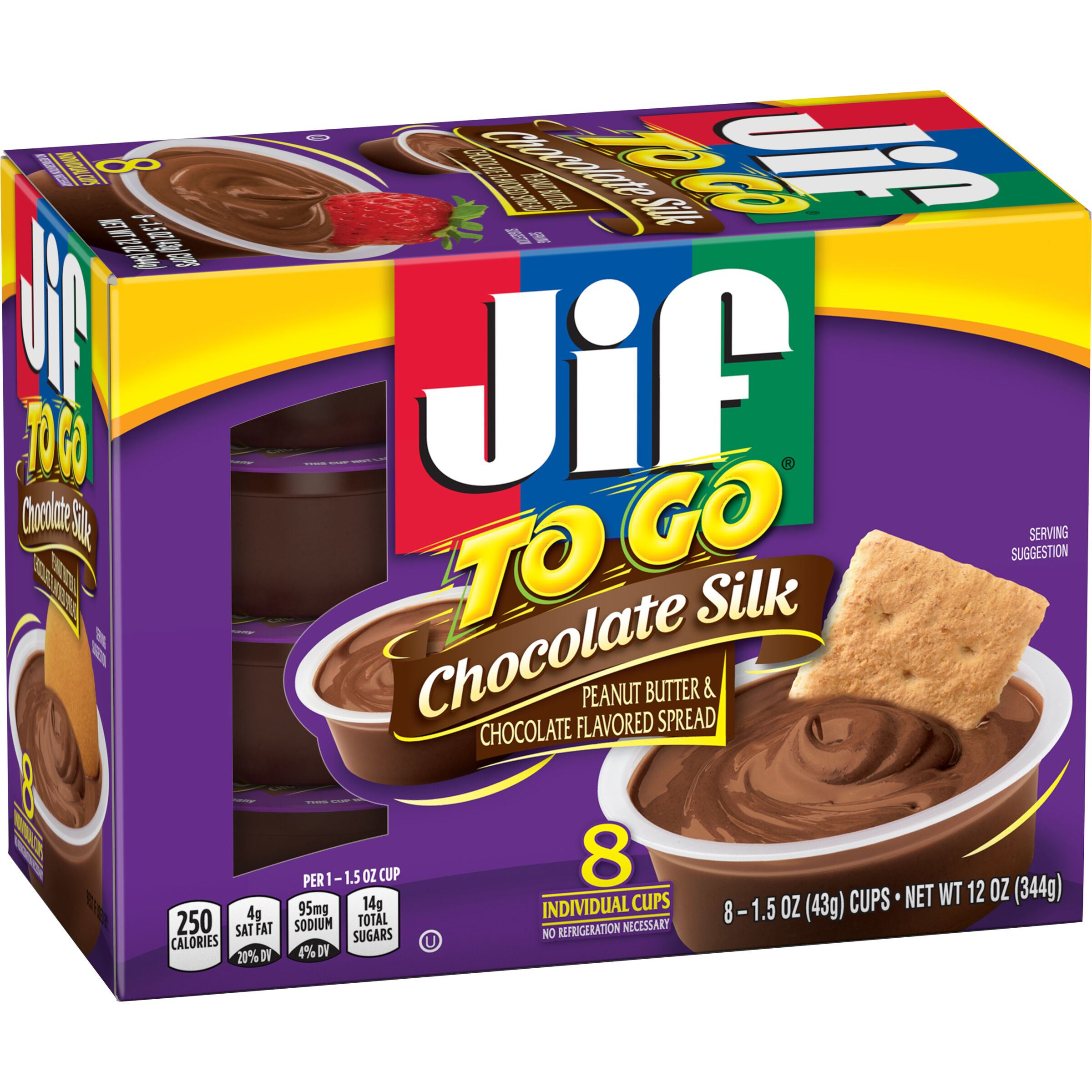 Jif  To Go® Peanut Butter & Chocolate Flavored Spread