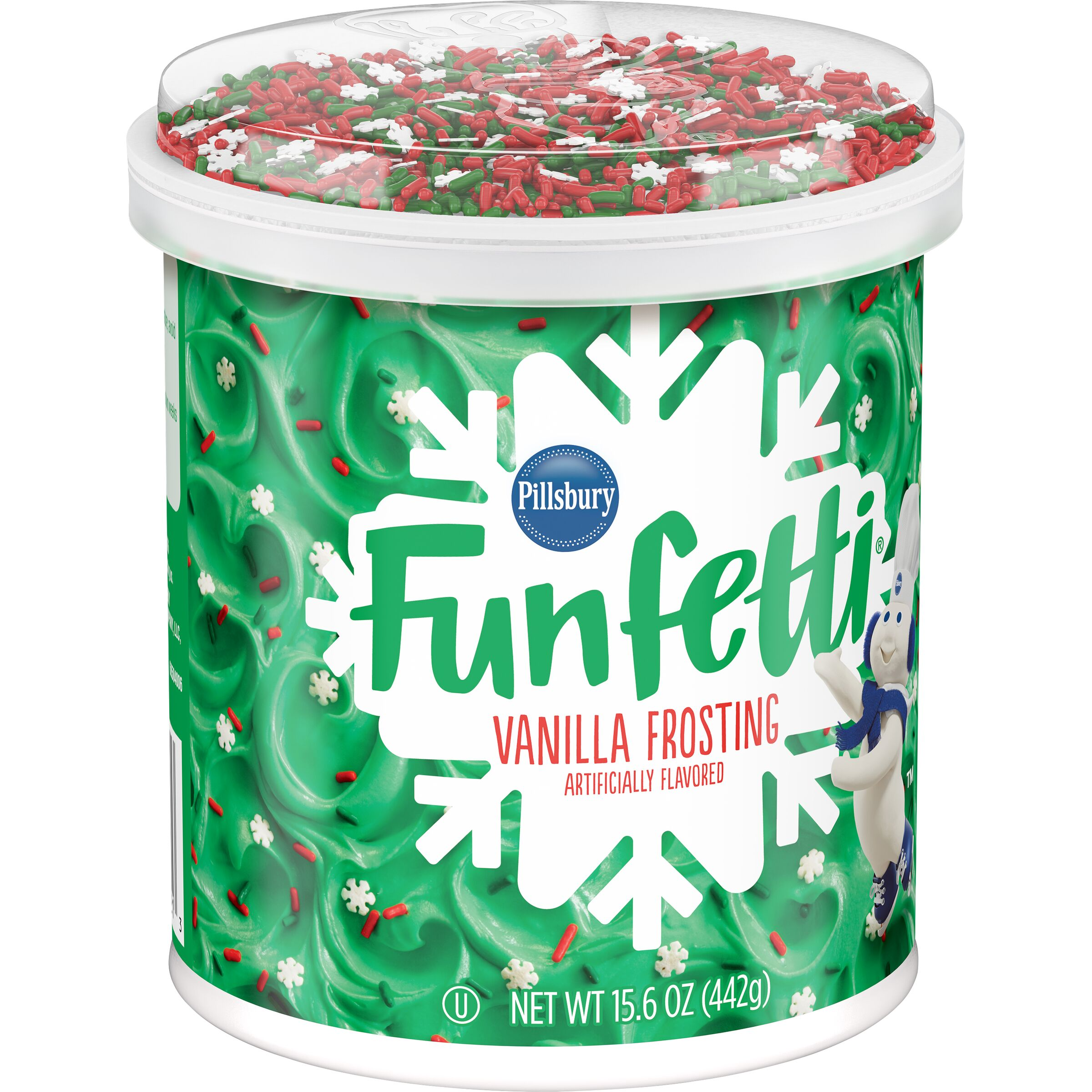 Pillsbury Funfetti Holiday Vanilla Flavored Frosting