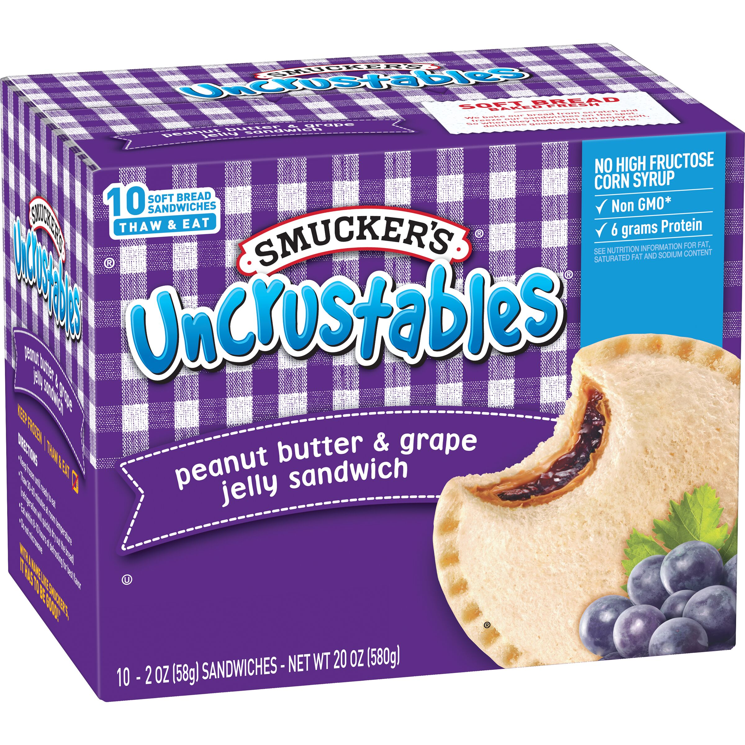 Smucker's Uncrustables Peanut Butter & Grape Jelly Sandwich