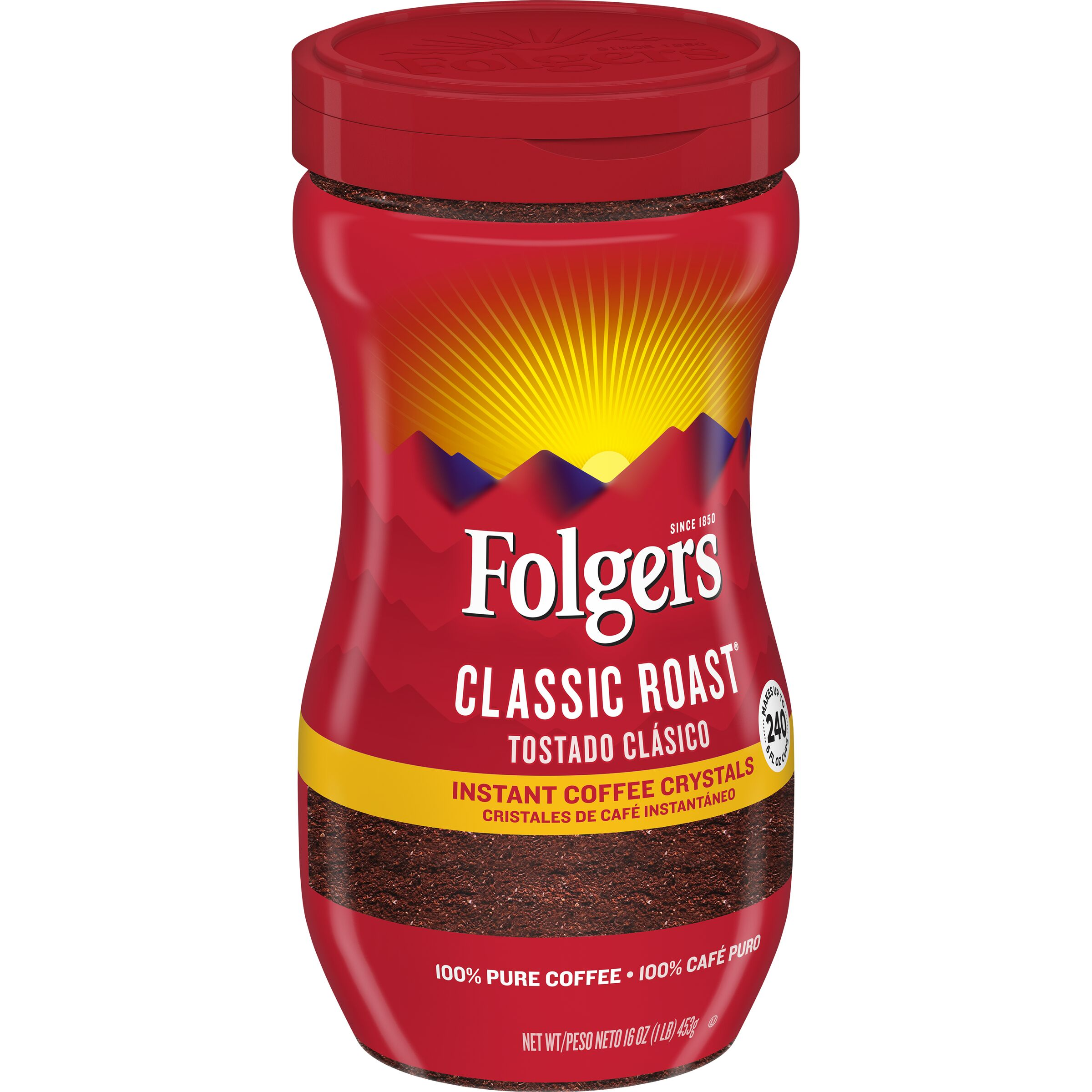 Folgers  Classic Roast® Instant Coffee Crystals