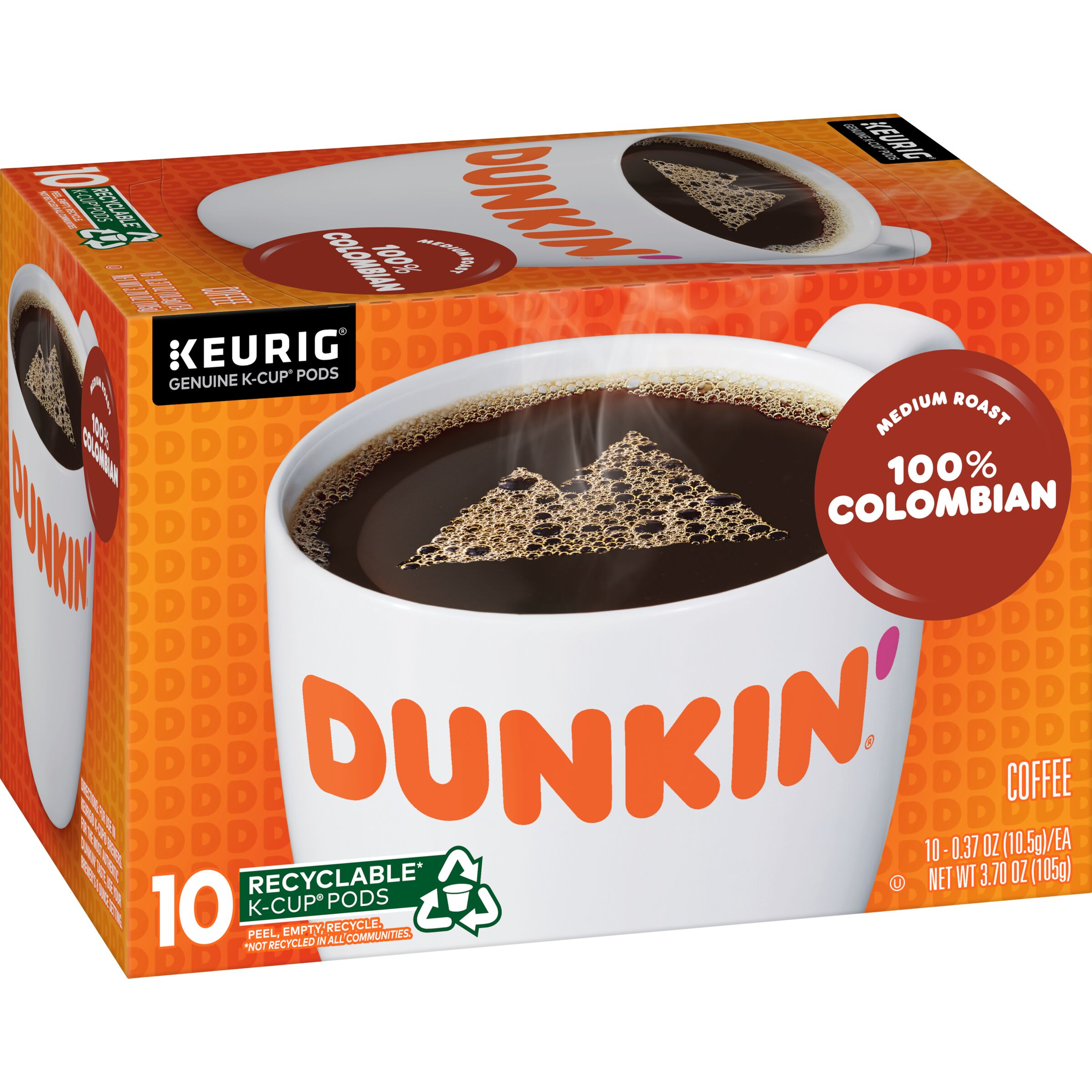 Dunkin'  100% Colombian K-Cup® Pods, 10 count