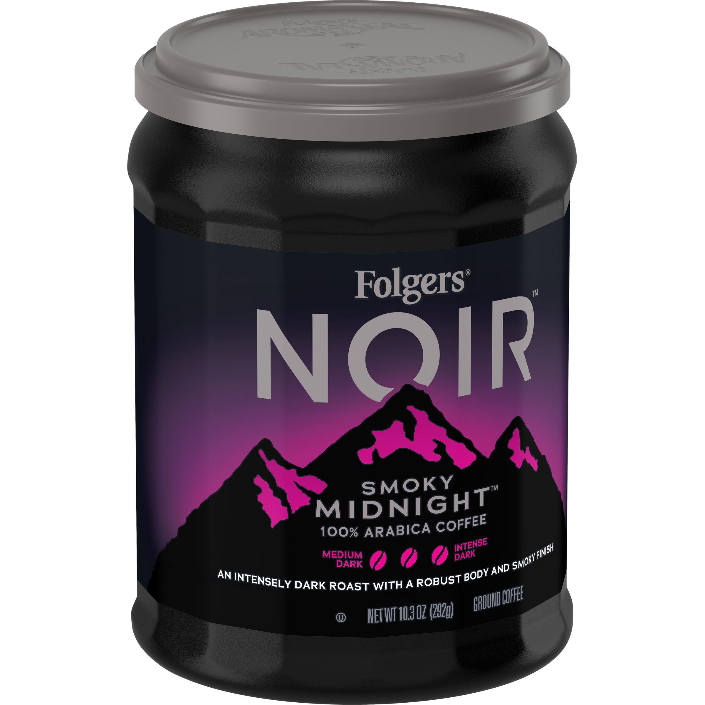 Folgers Noir Smoky Midnight Ground Coffee