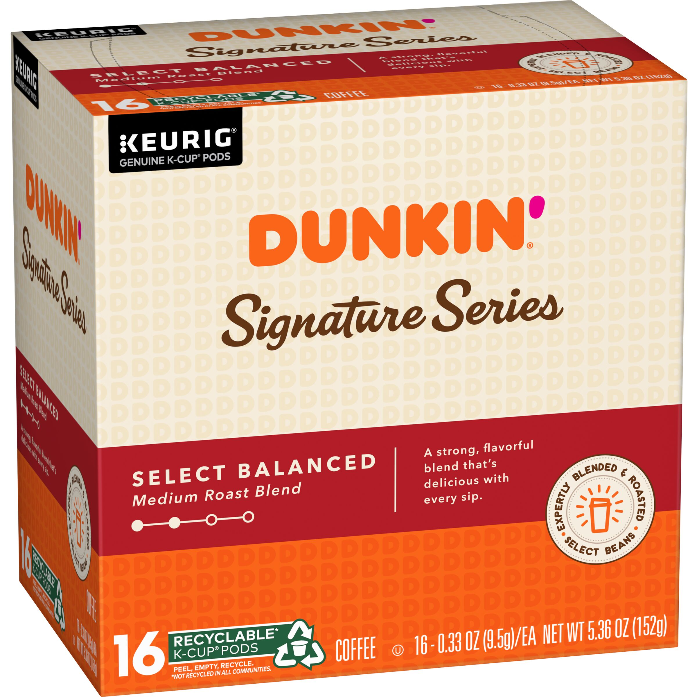 Dunkin' Signature Series Select Balanced K‑Cup® Pods