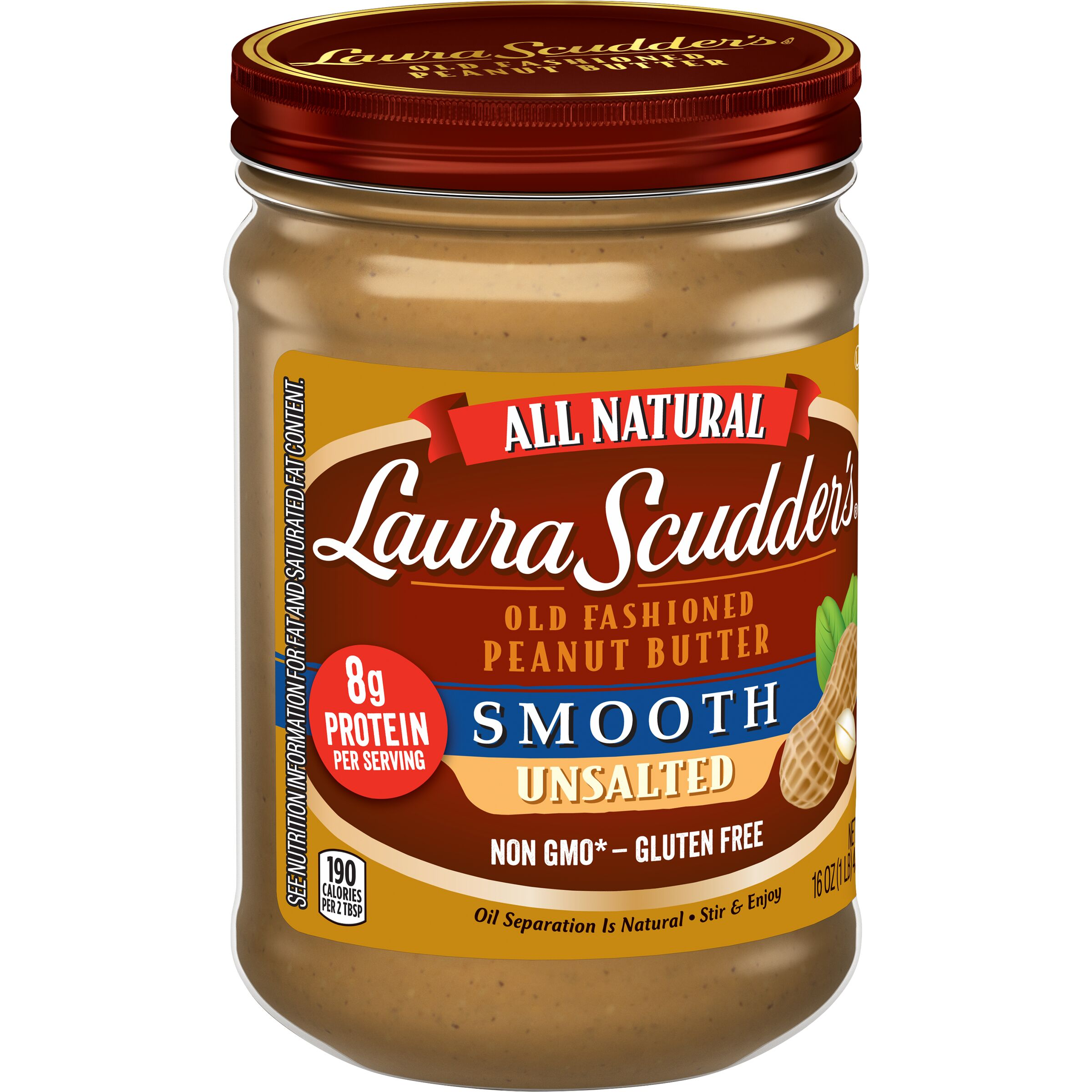 Laura Scudder's  Natural Unsalted Smooth Peanut Butter