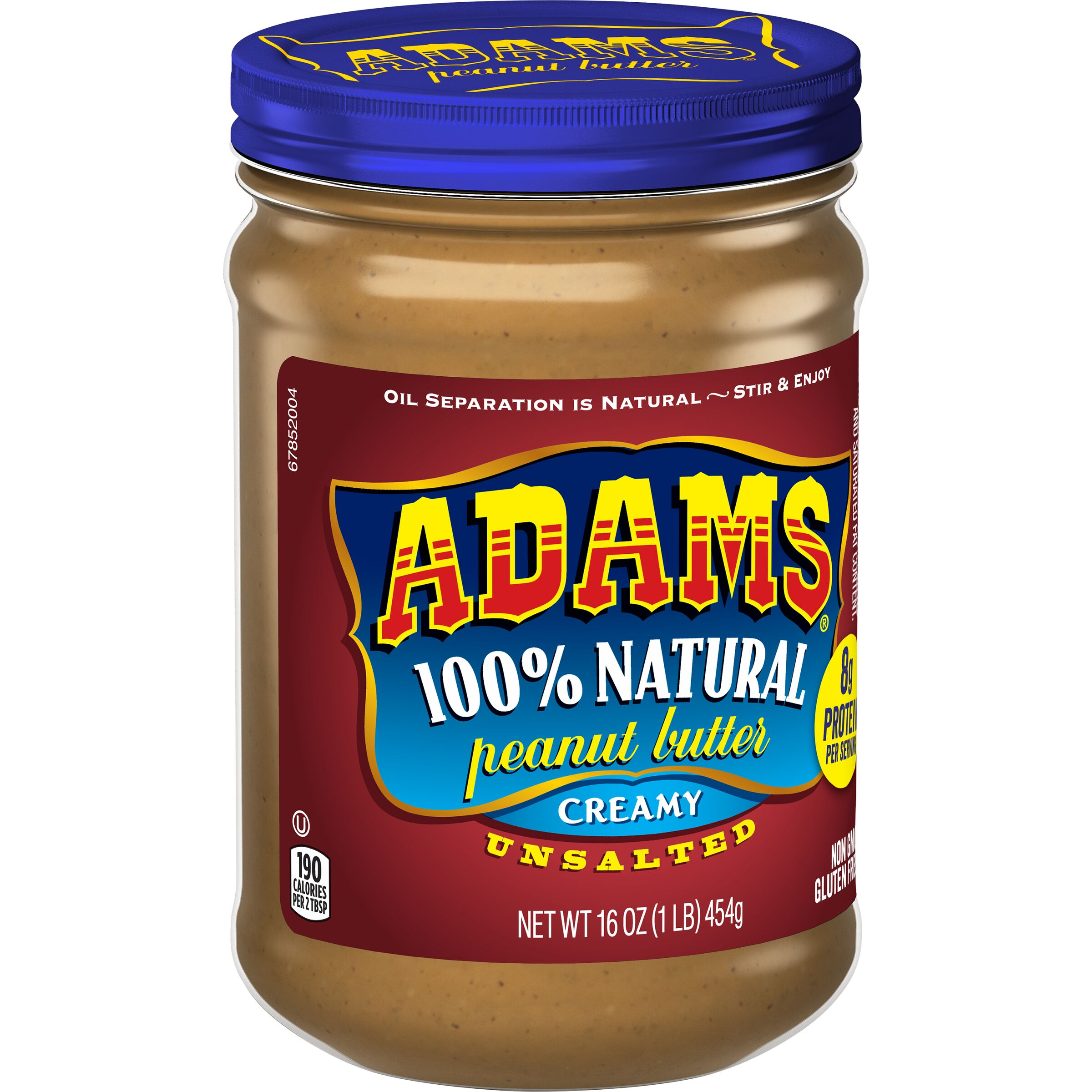 Adams  Natural Creamy Unsalted Peanut Butter