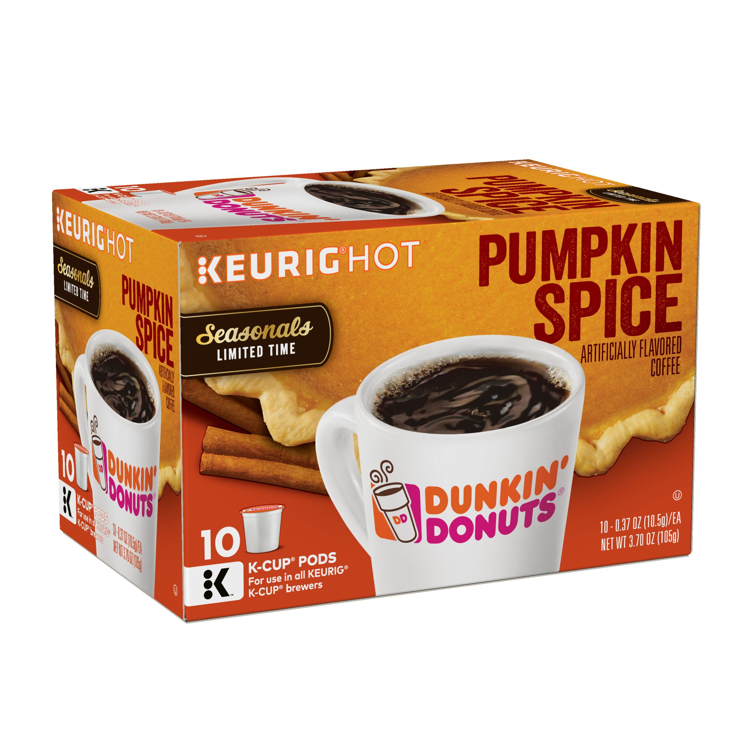 Dunkin' Donuts  Pumpkin Spice Flavored K-Cup® Pods, 10 count