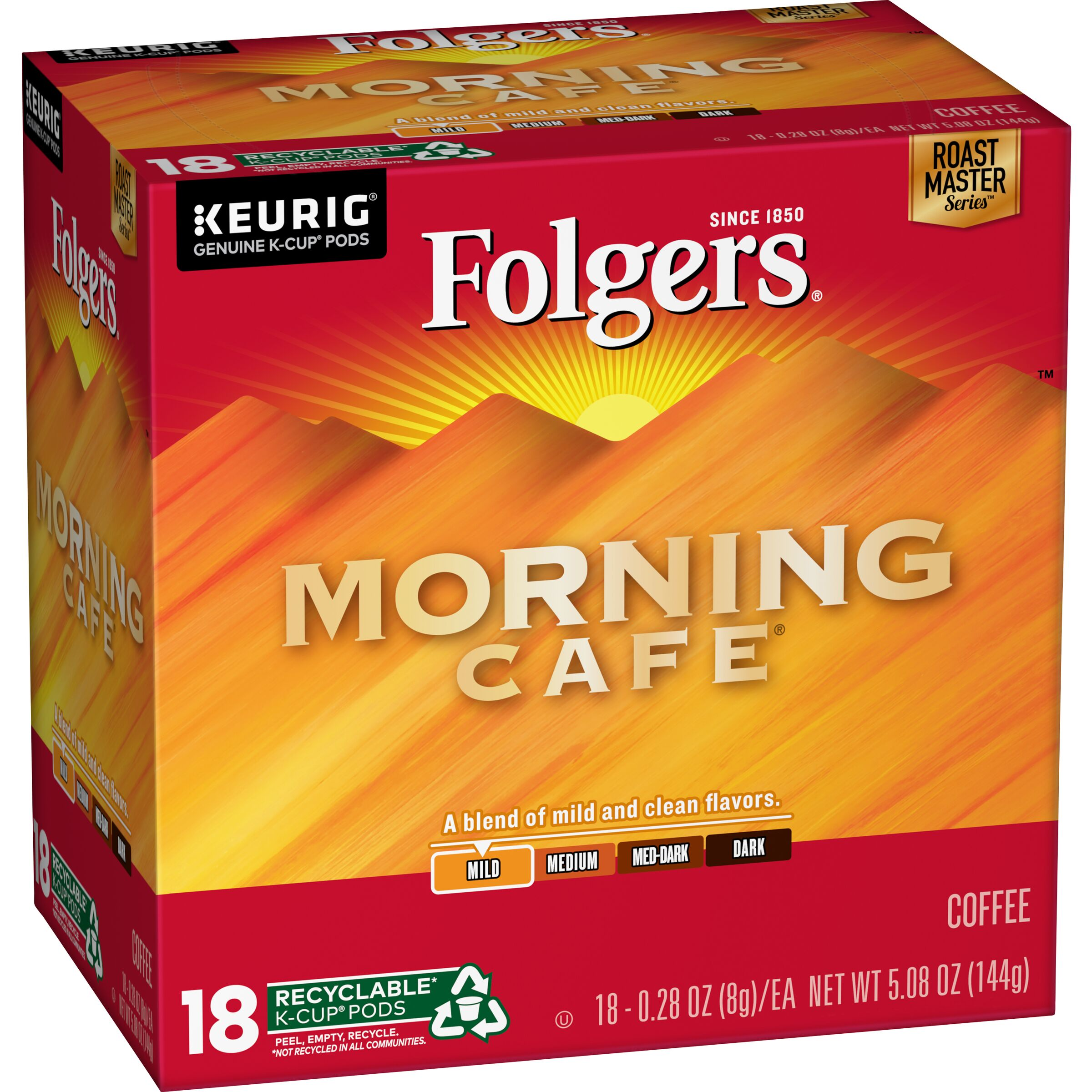 Folgers  Morning Cafe® Coffee K-Cup Pods, 18 count