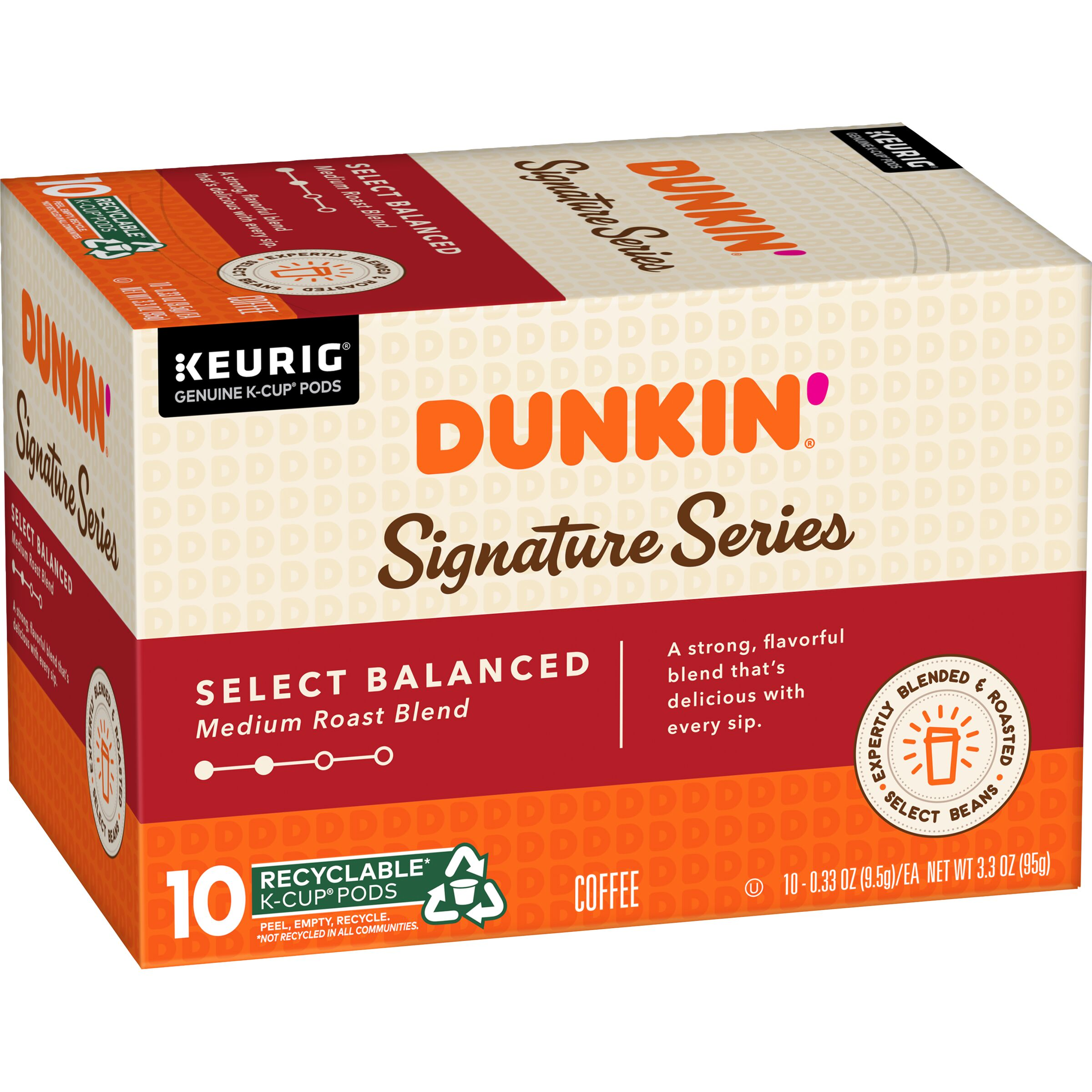 Dunkin'<sup>®</sup> Signature Series Select Balanced K-Cup Pods