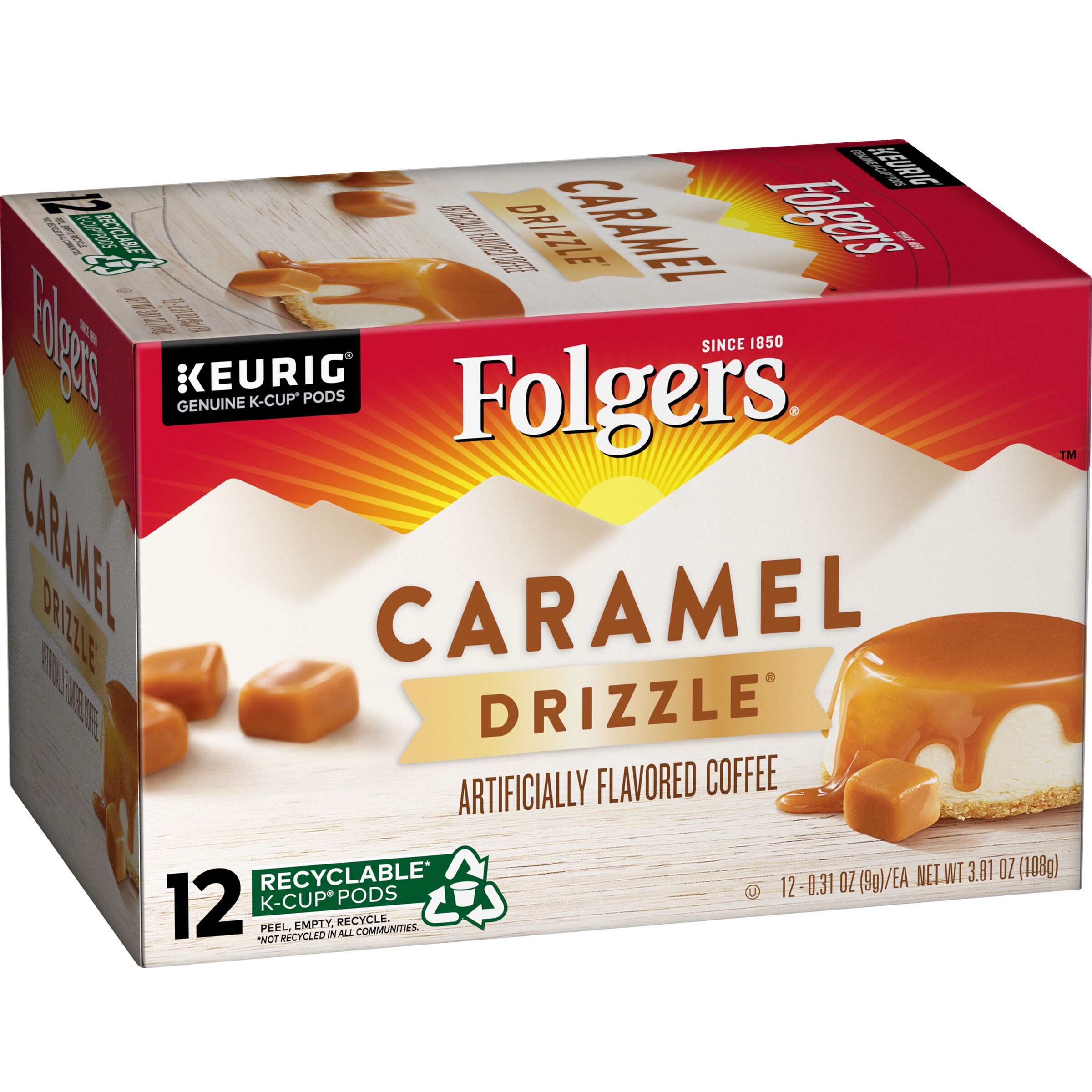 Folgers  Caramel Drizzle® Flavored Coffee K-Cup® Pods, 12 count