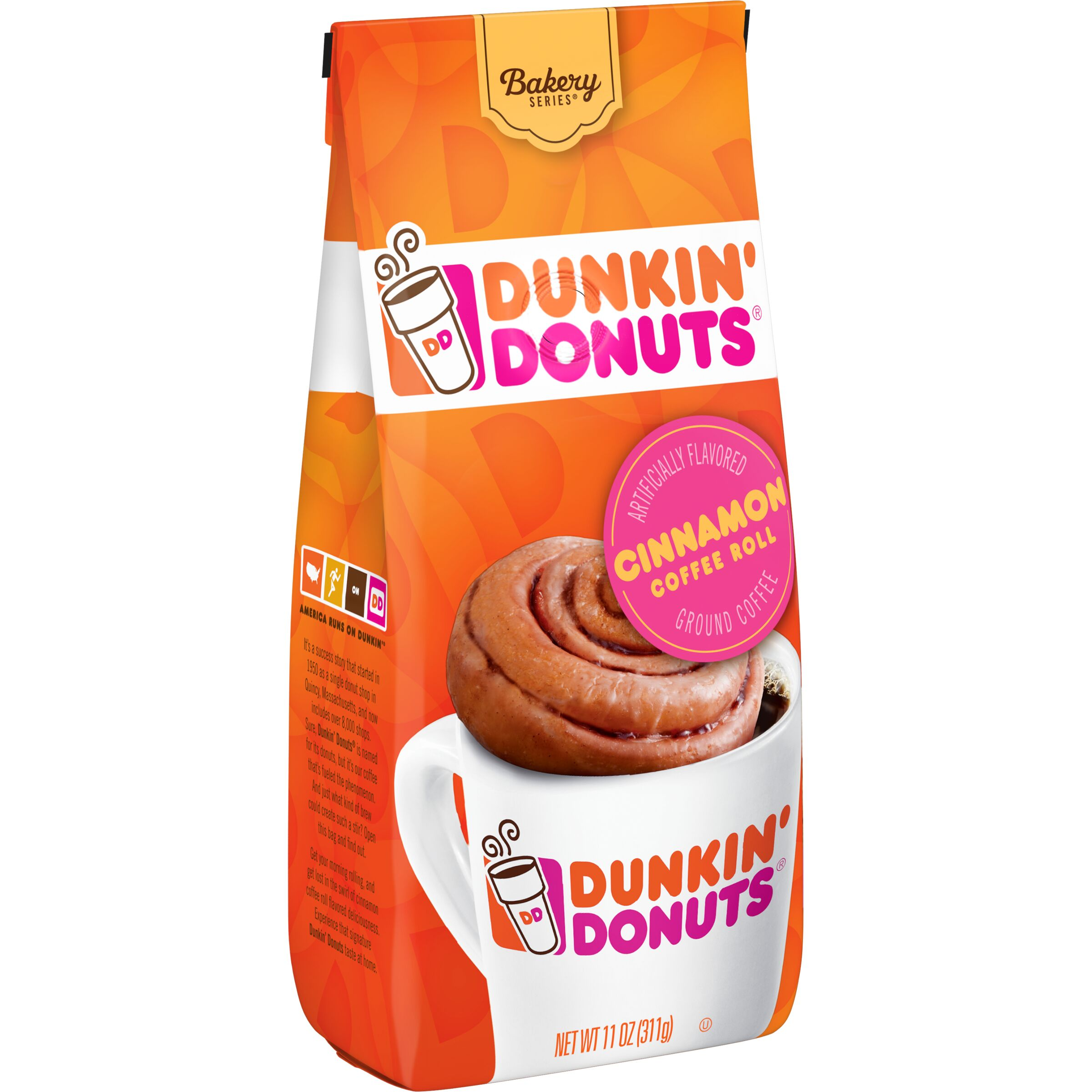 Dunkin' Donuts Bakery Series Cinnamon Coffee Roll Flavored Coffee