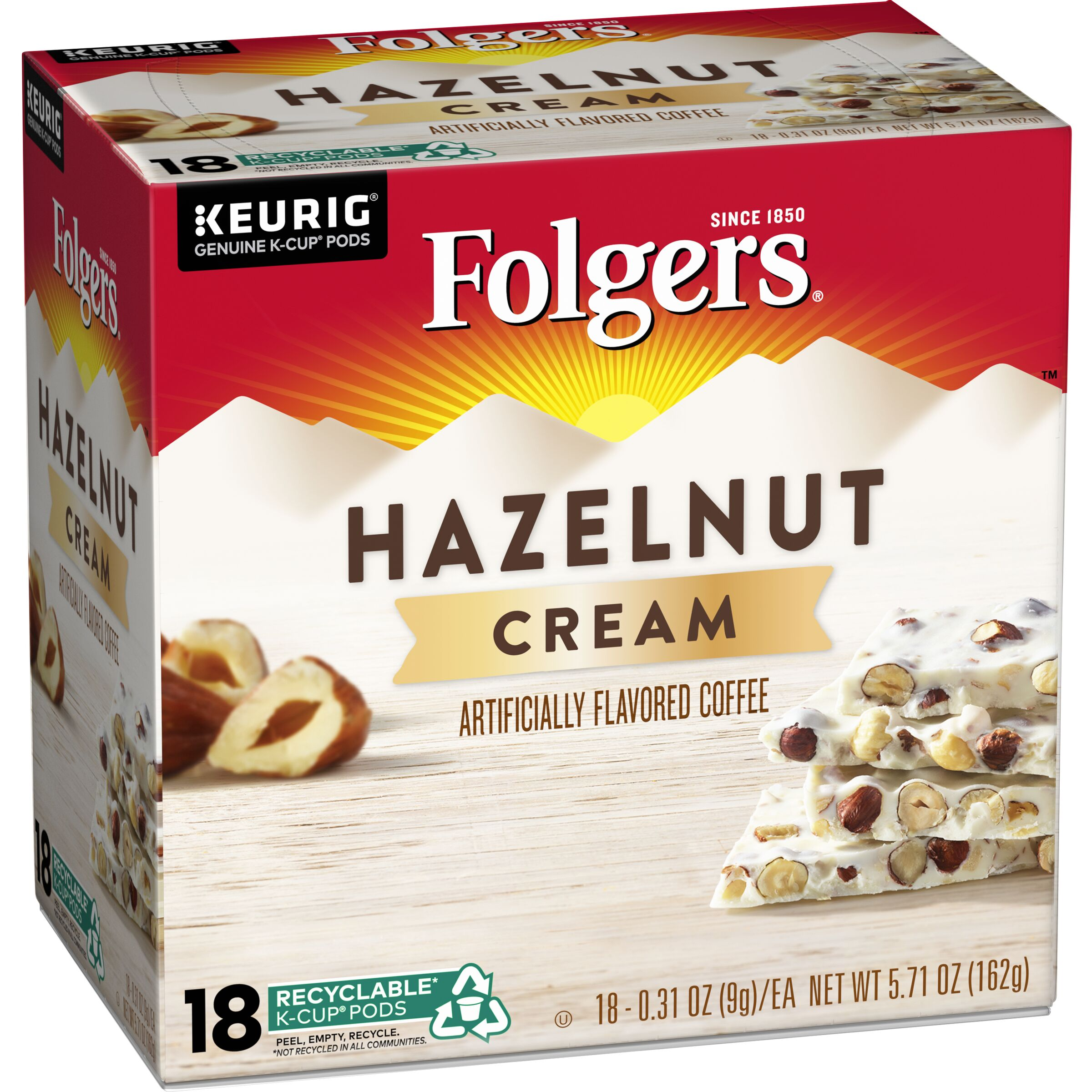 Folgers  Hazelnut Cream Flavored Coffee K-Cup® Pods, 18 count