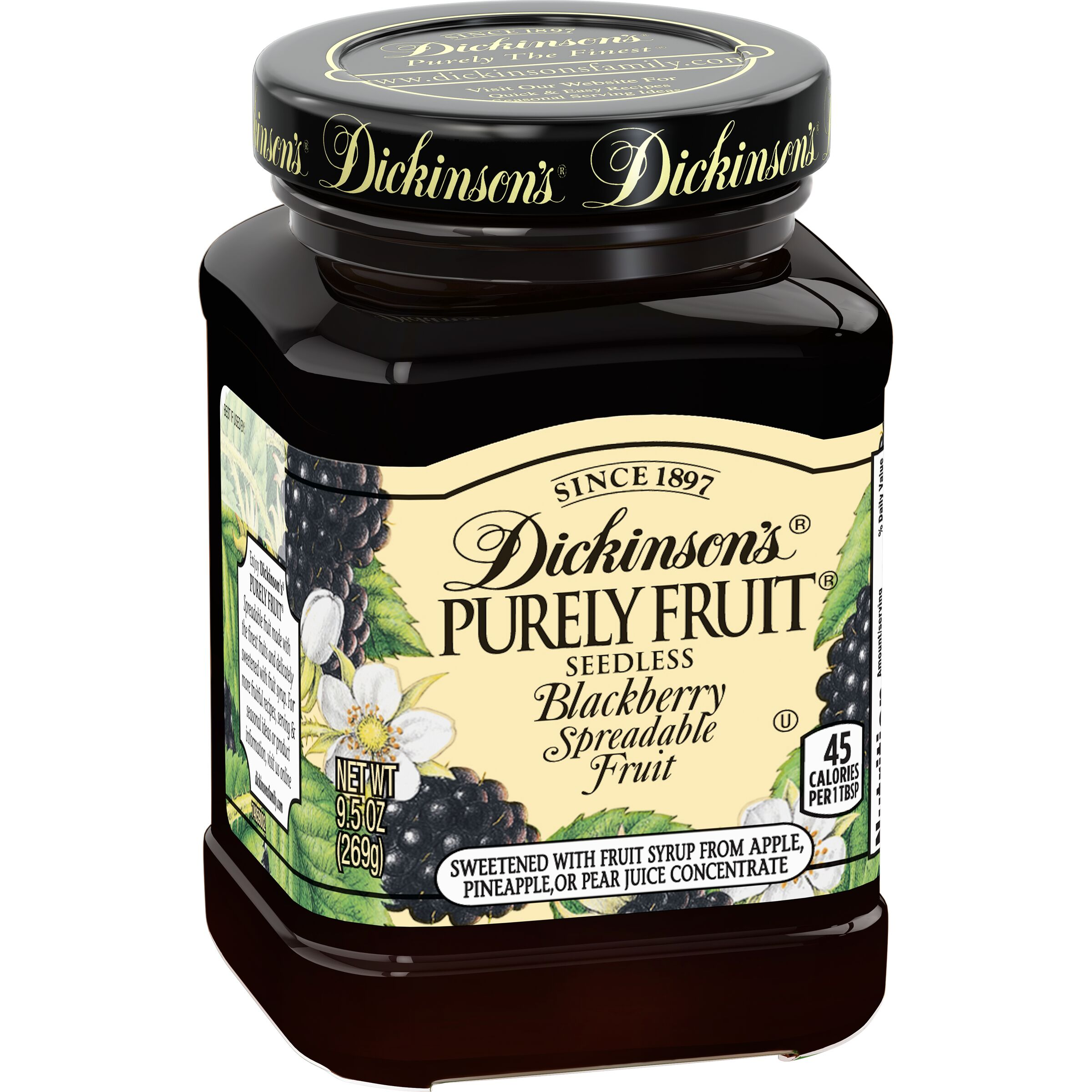 Dickinson's<sup>®</sup> Purely Fruit Seedless Blackberry Spreadable Fruit