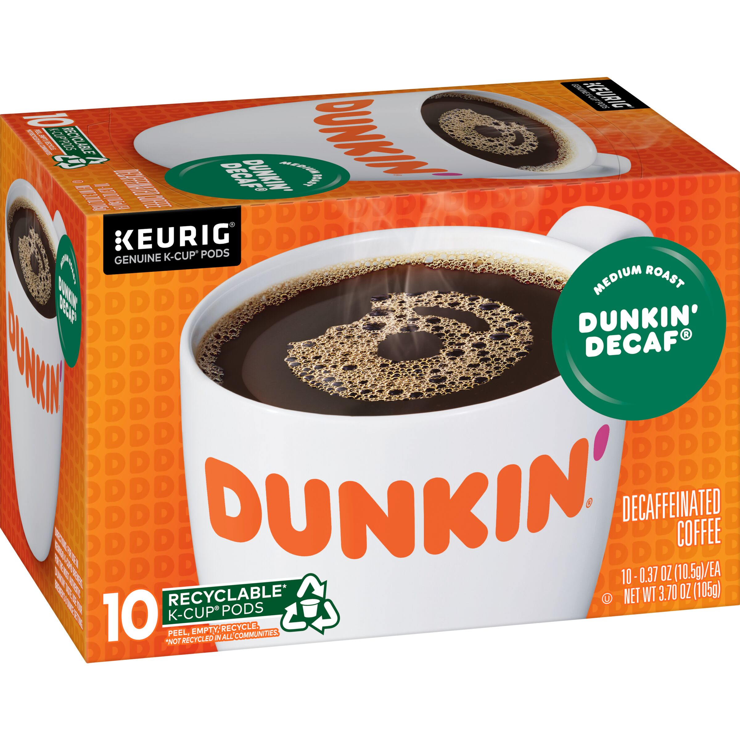Dunkin'  Dunkin' Decaf K-Cup Pods, 10 Count