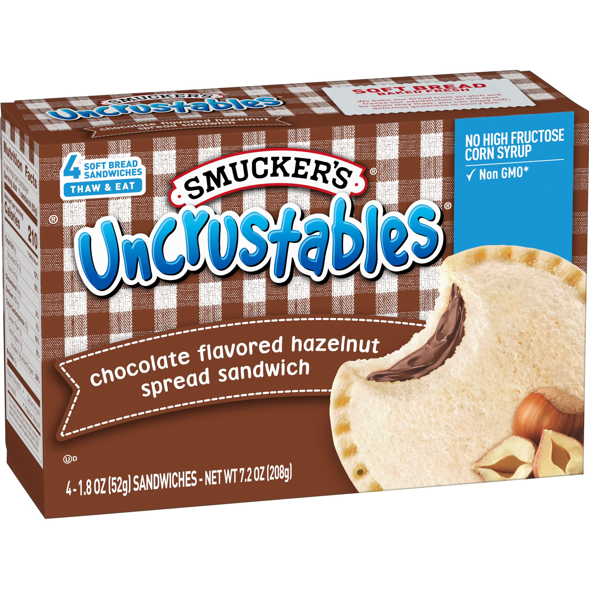 Smucker's Uncrustables Chocolate Hazelnut Spread Sandwich