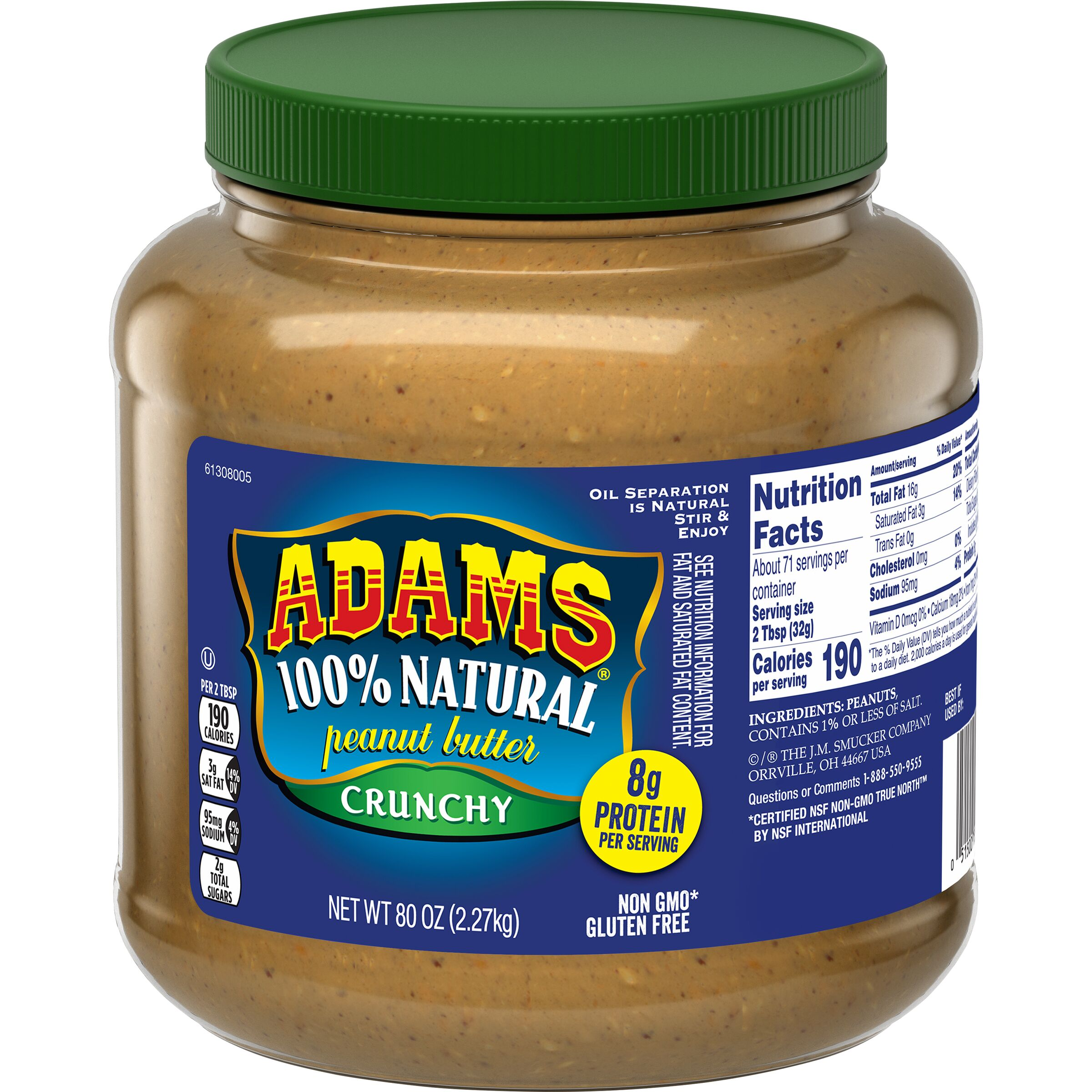 Adams<sup>®</sup>  Natural Crunchy Peanut Butter