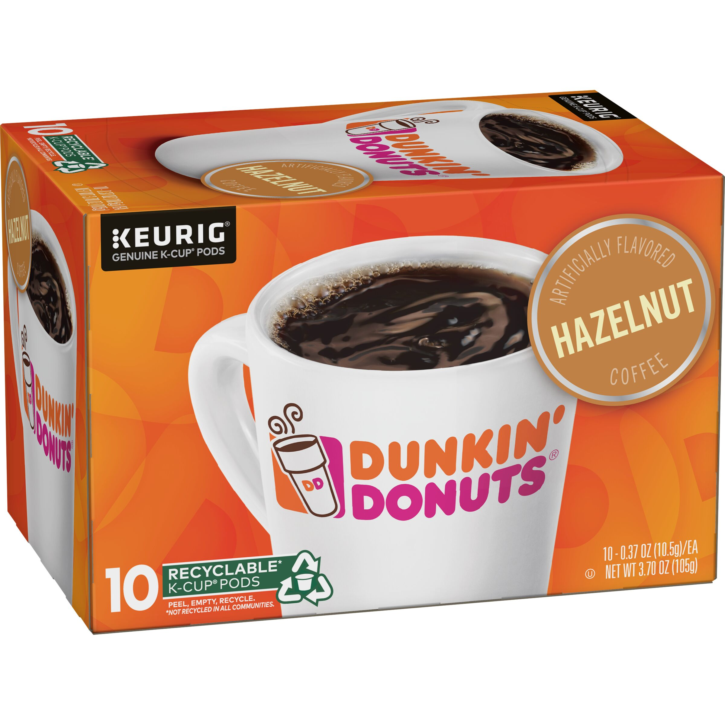 Dunkin' Donuts  Hazelnut K-Cup® Pods, 10 Count