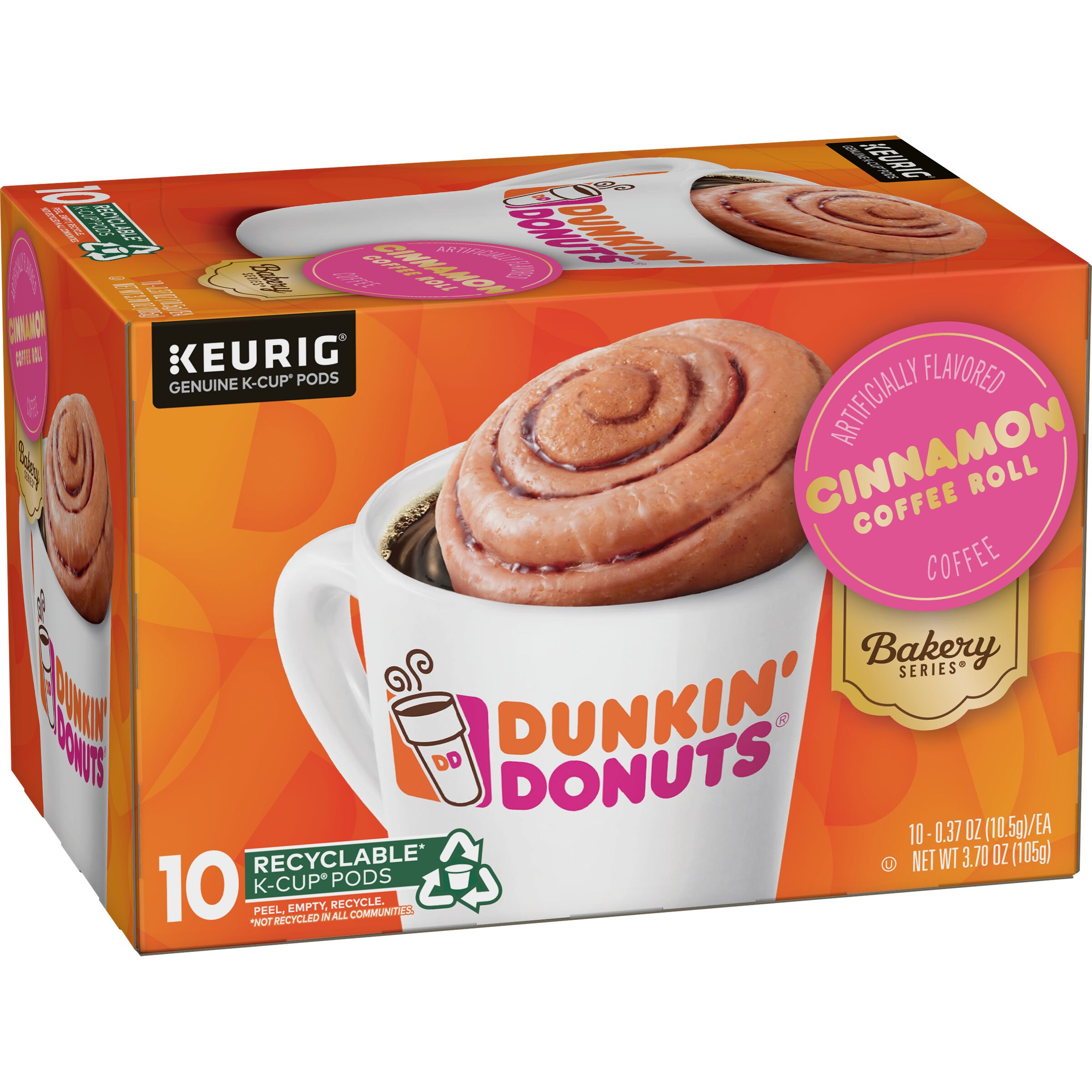 Dunkin' Donuts  Bakery Series® Cinnamon Coffee Roll Flavored K-Cup® Pods, 10 Count