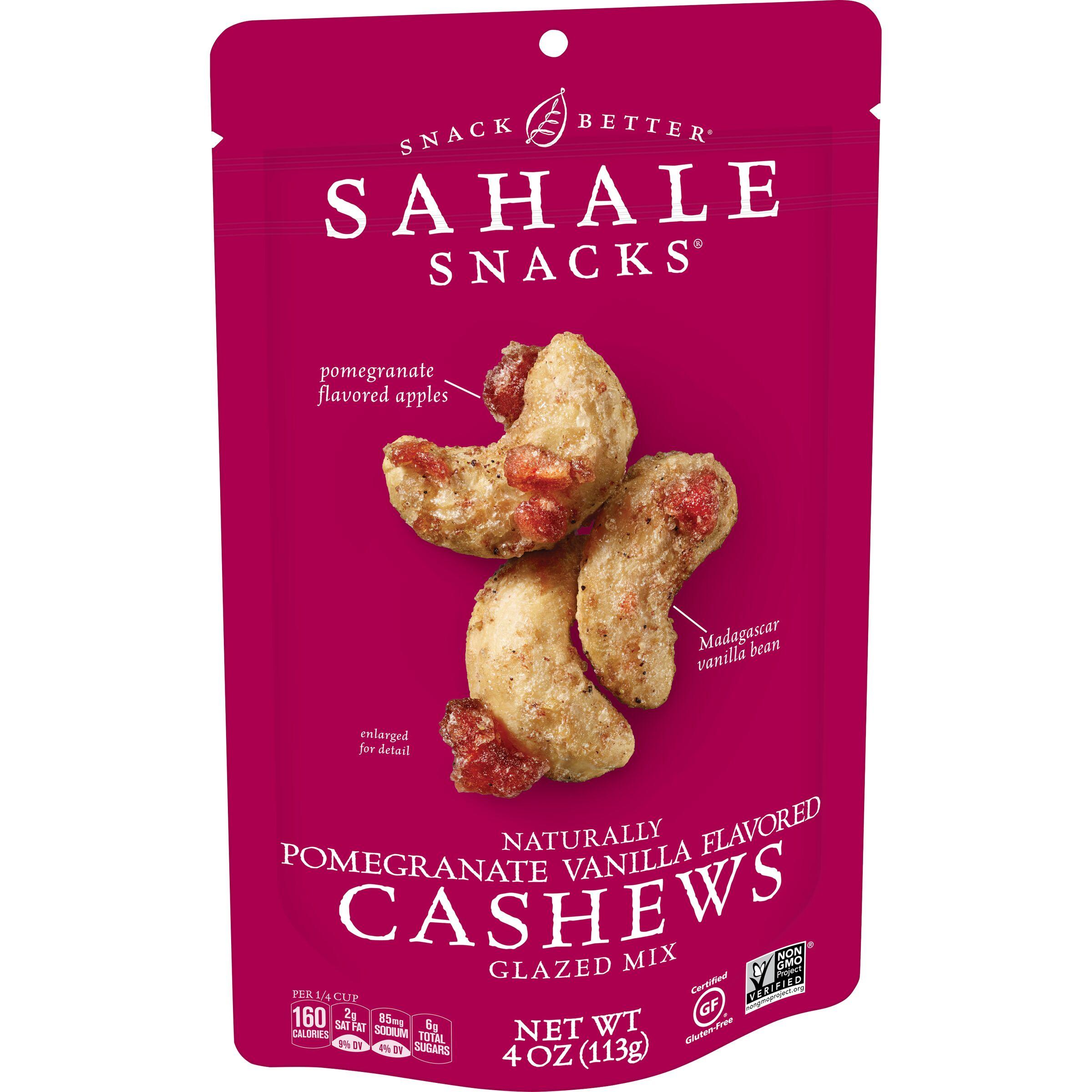 Sahale Snacks  Naturally Pomegranate Vanilla Flavored Cashews Glazed Mix