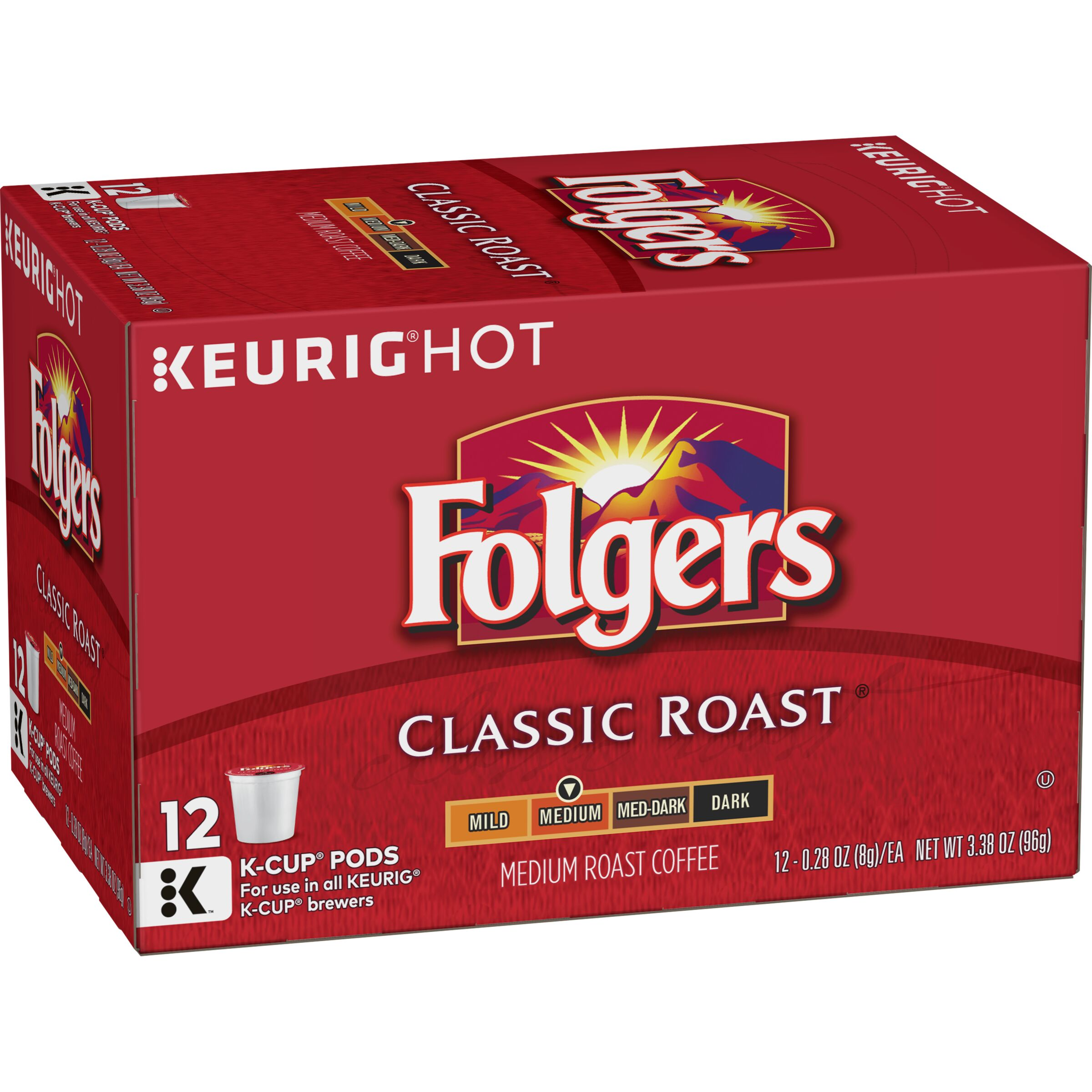Folgers  Classic Roast Coffee K-Cup® Pods, 12 Count